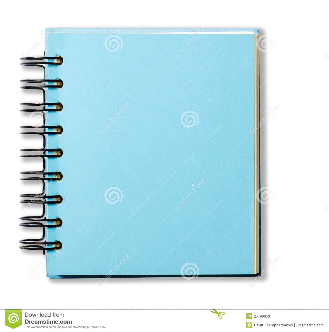 Blue Cover Cookbook ~ Blue cover note book stock photos image
