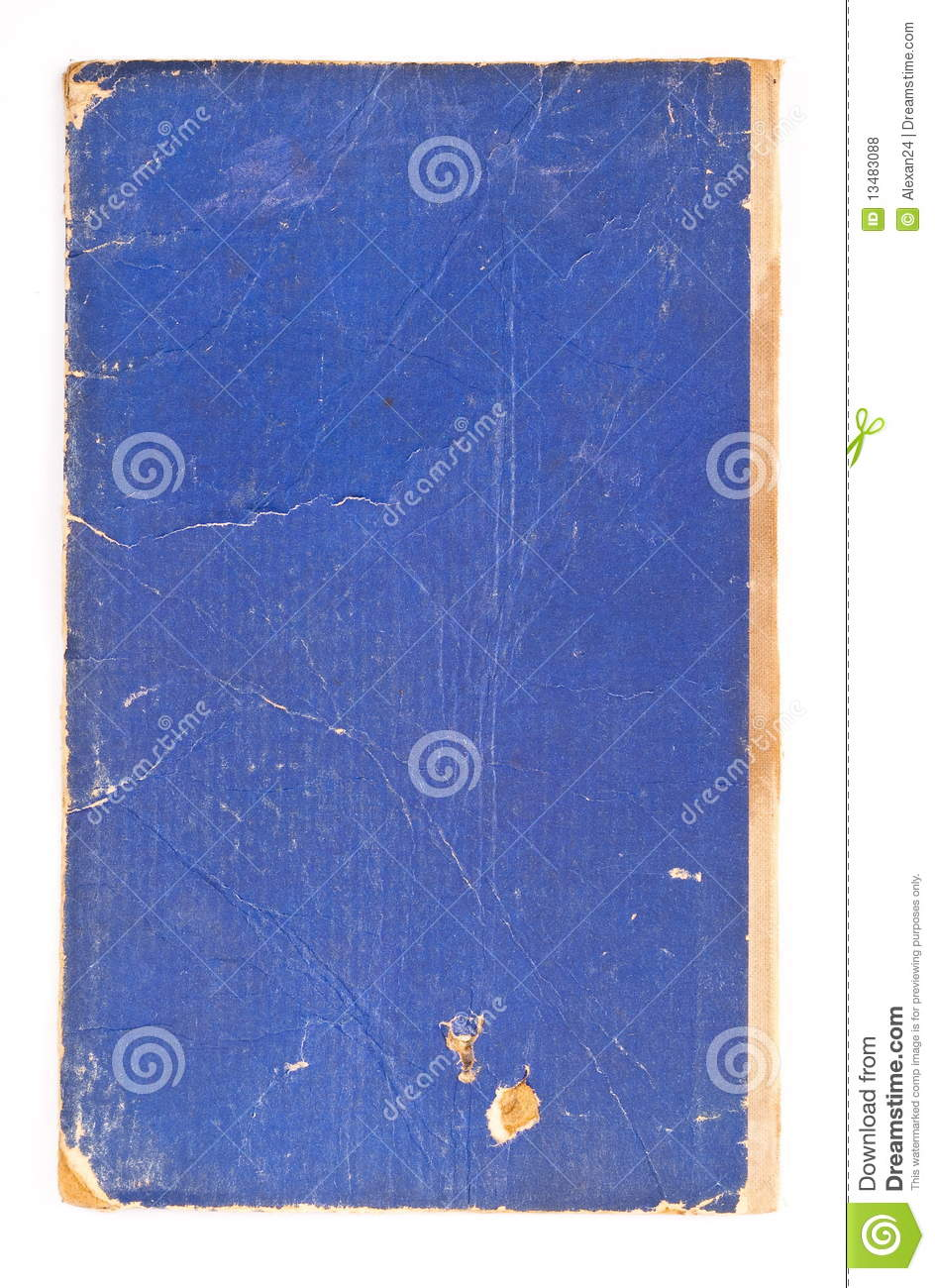 Blue Cover Cookbook : Blue cover old book royalty free stock photos image