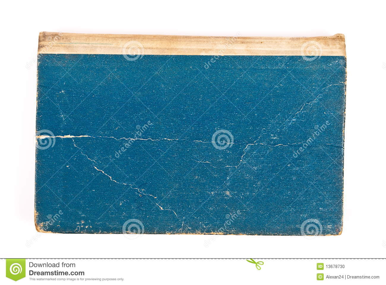 Blue Covered Book : Blue cover old book stock photo image