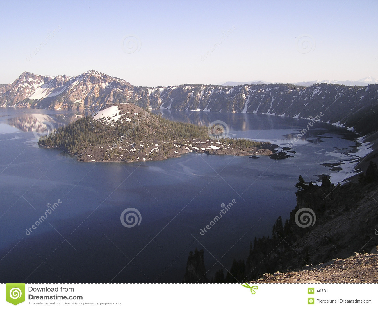 Blue Crater Lake,