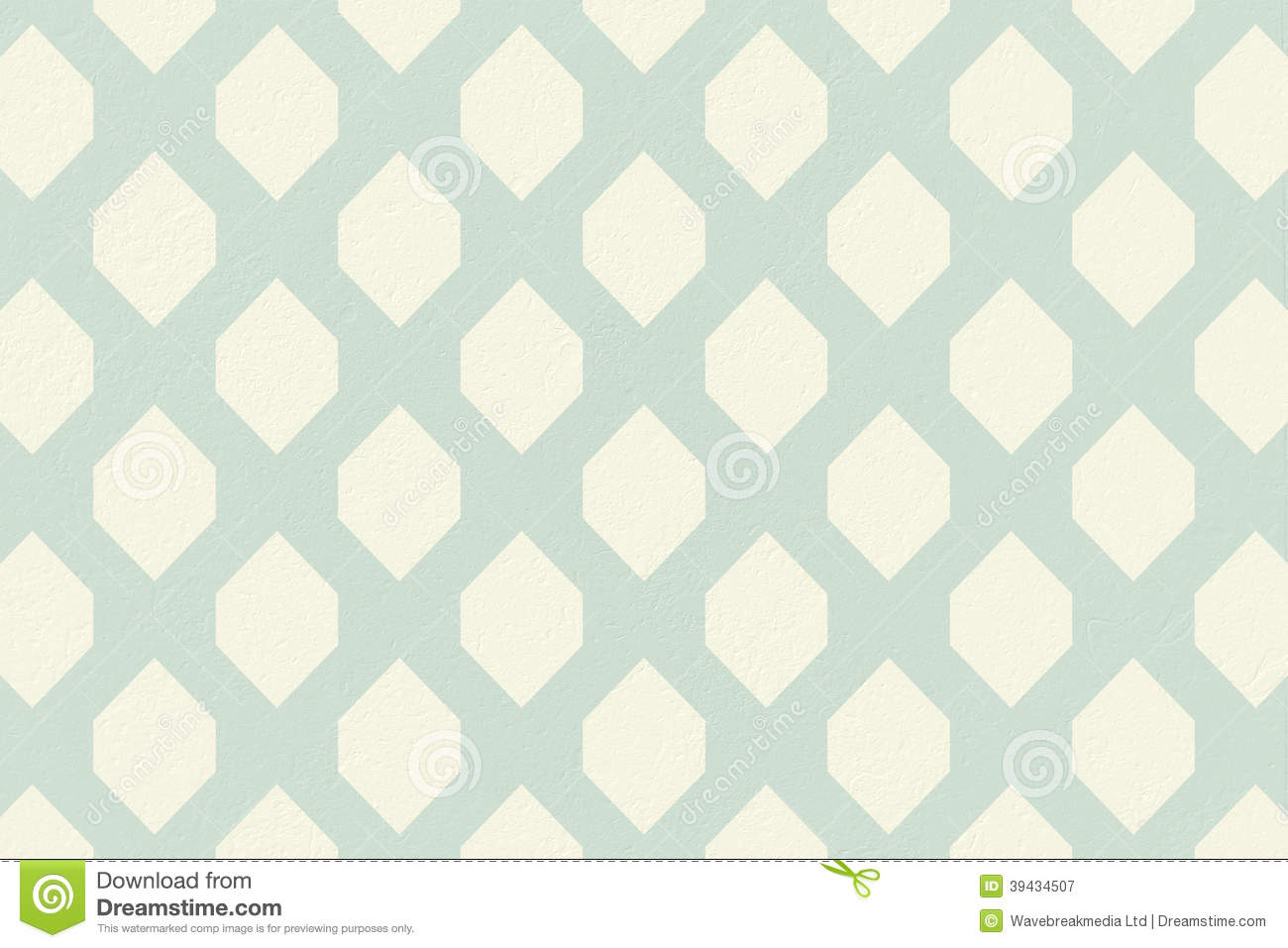 Blue And Cream Patterned Wallpaper Download Preview