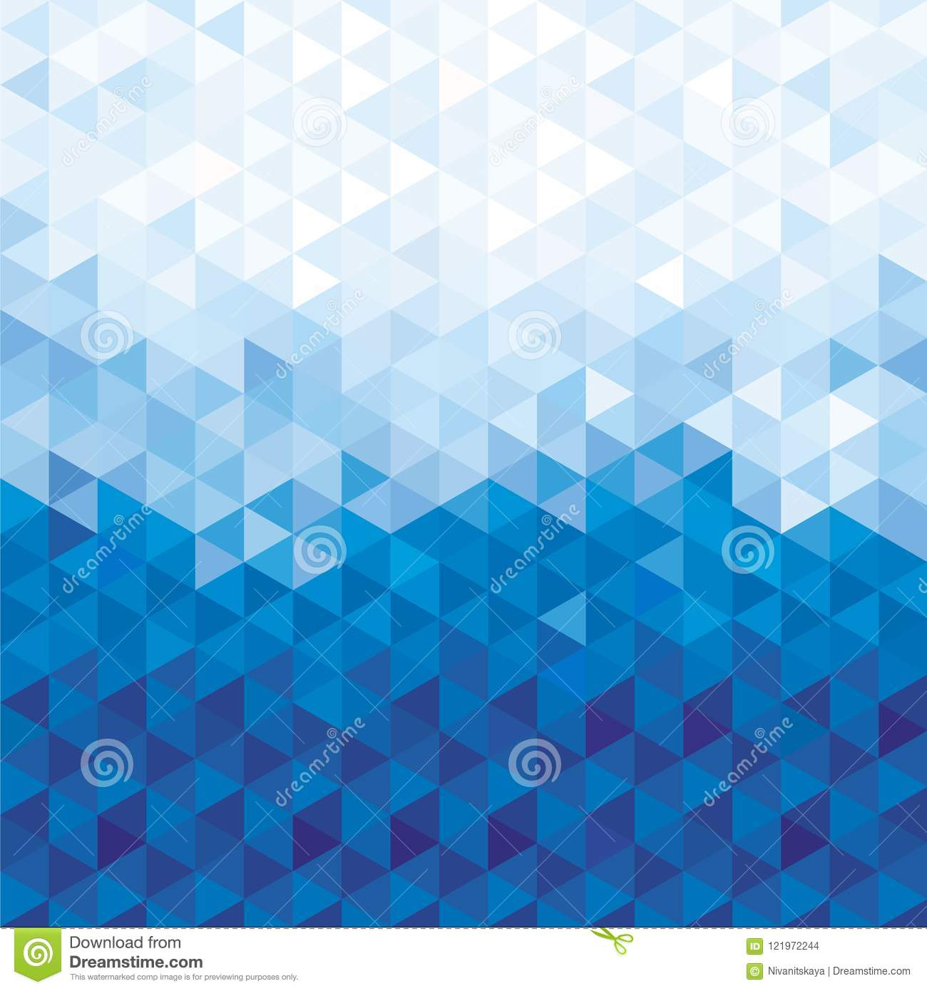 Blue Crystal Background Blue Background Of Geometric Shapes