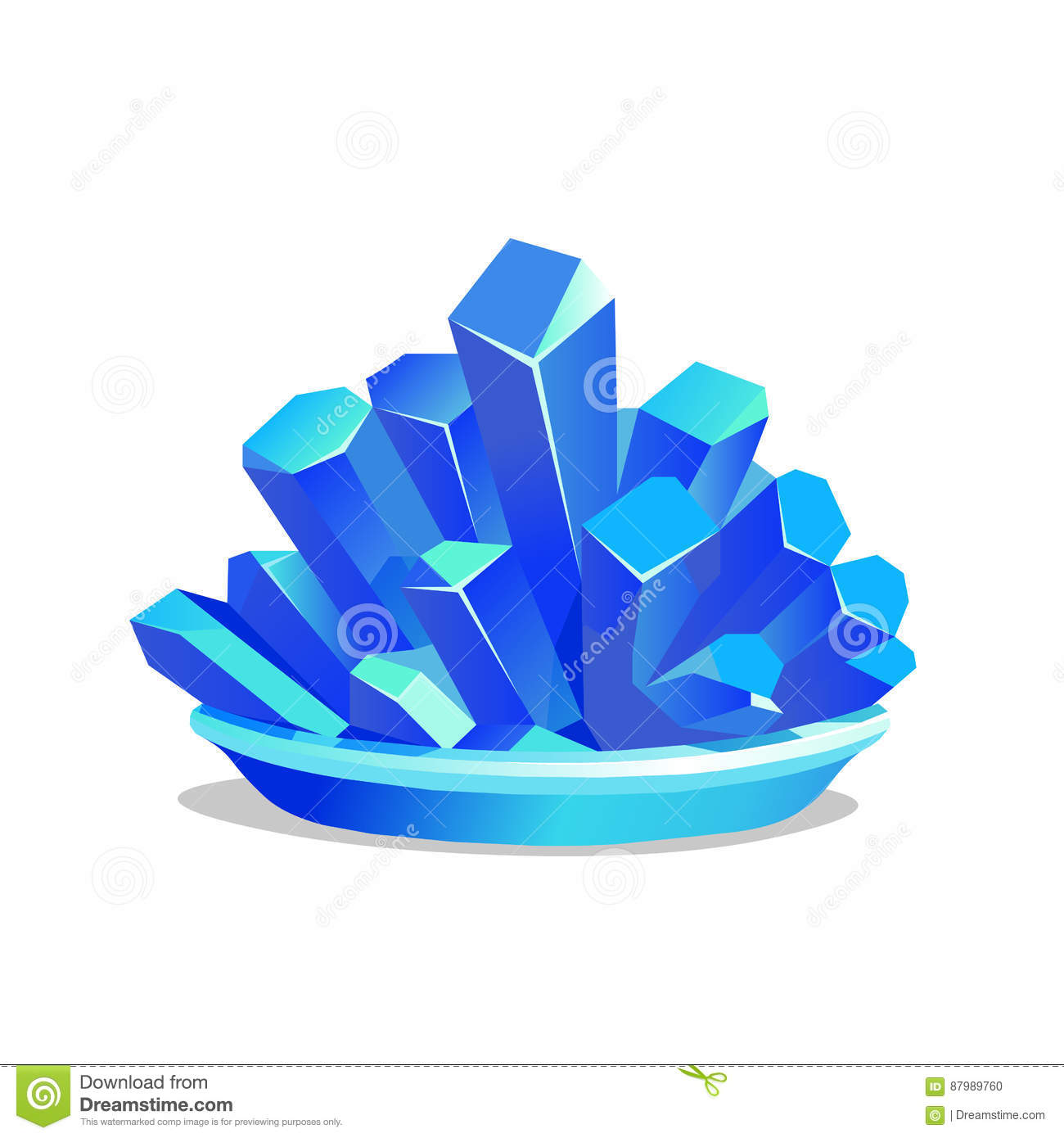 Blue Crystals Of Copper Sulfate Stock Vector - Illustration of