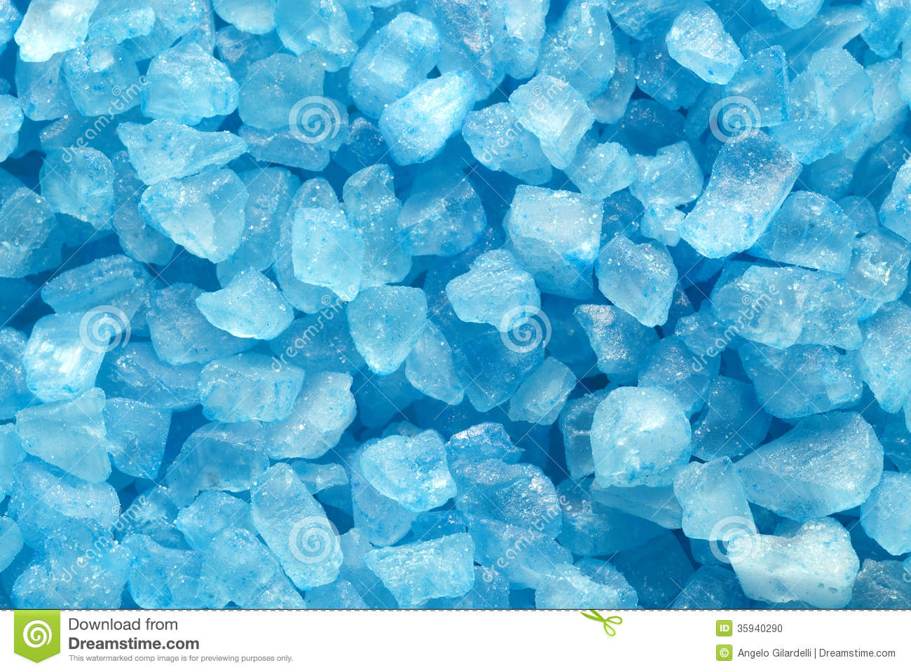 Blue Crystals Stock Photo Image 35940290