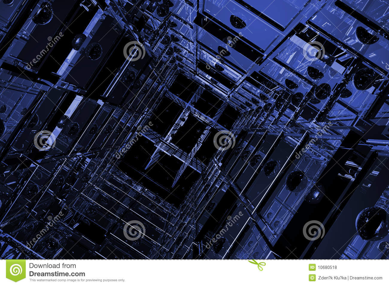 Blue cubic space royalty free stock photos image 10680518 for Cubi spaceo