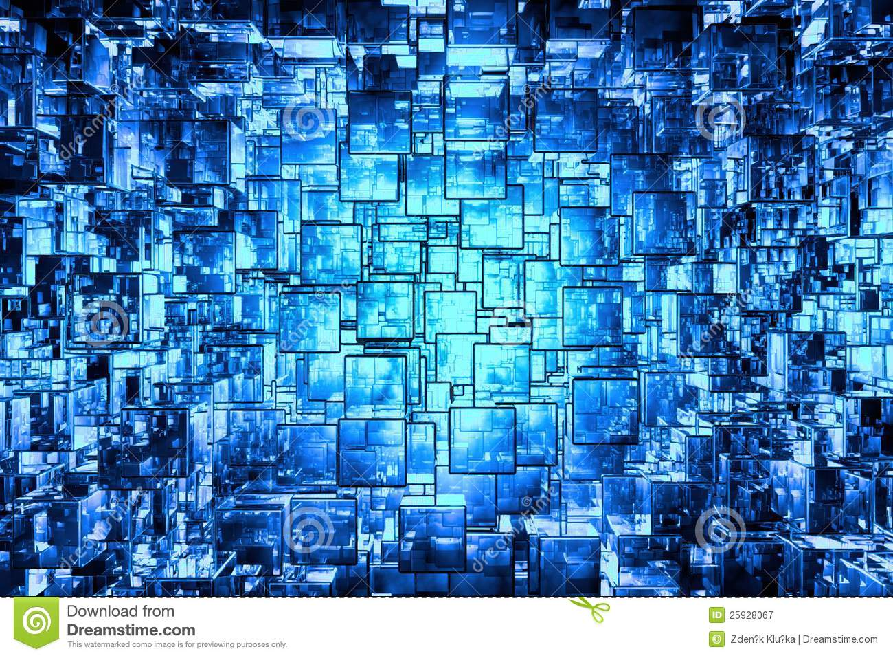 Blue cubic space royalty free stock photography image for Cubi spaceo