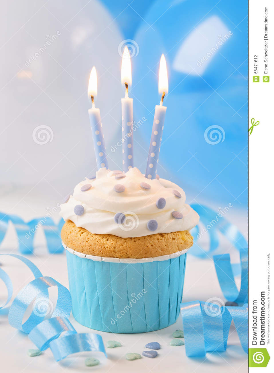 Happy Birthday Cake With Many Candles