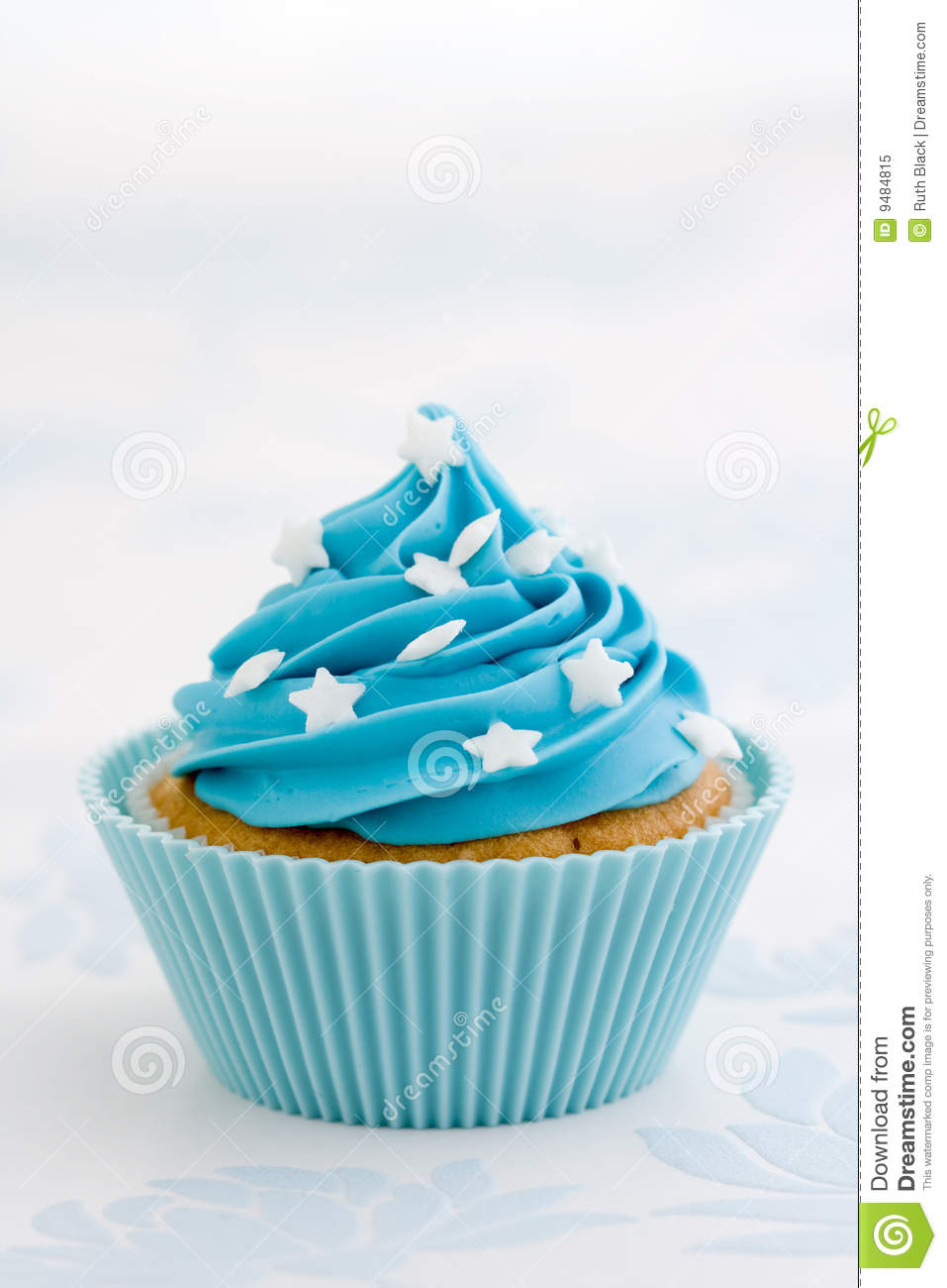 Blue Cupcake Stock Image Image Of Frosted Iced Cakes
