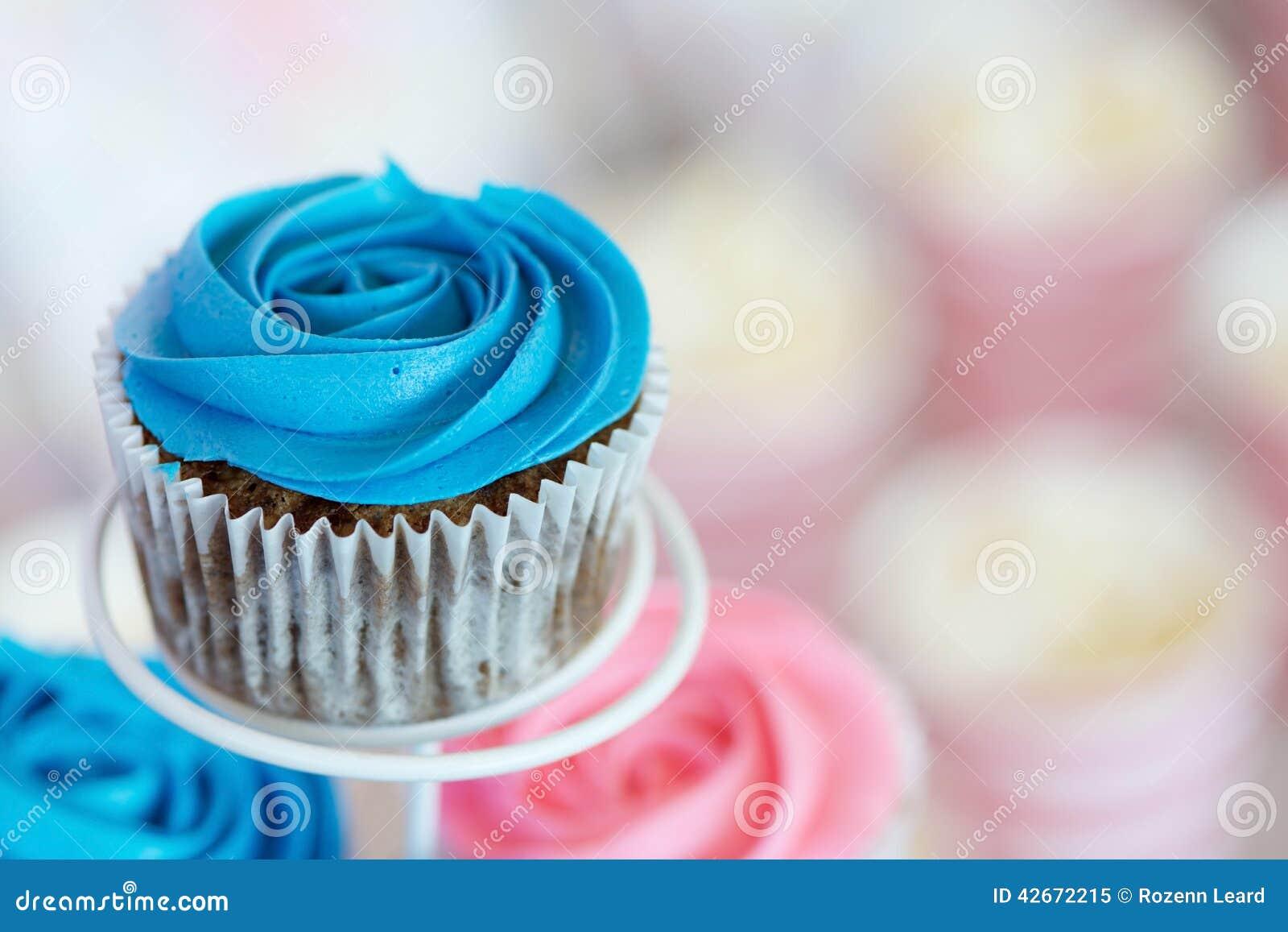 Blue Cupcake Stock Photo Image 42672215