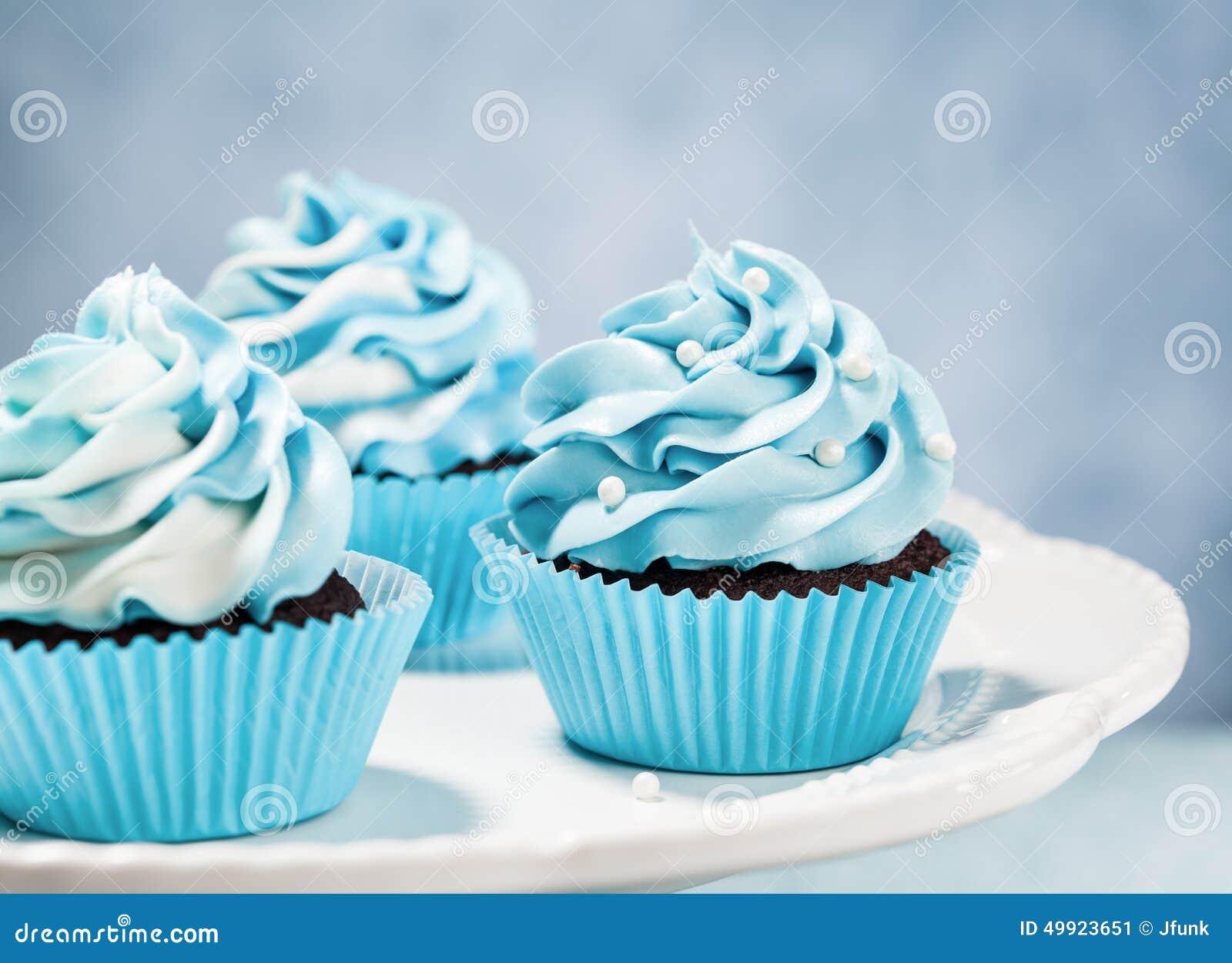 Blue Cupcakes Stock Photo Image 49923651