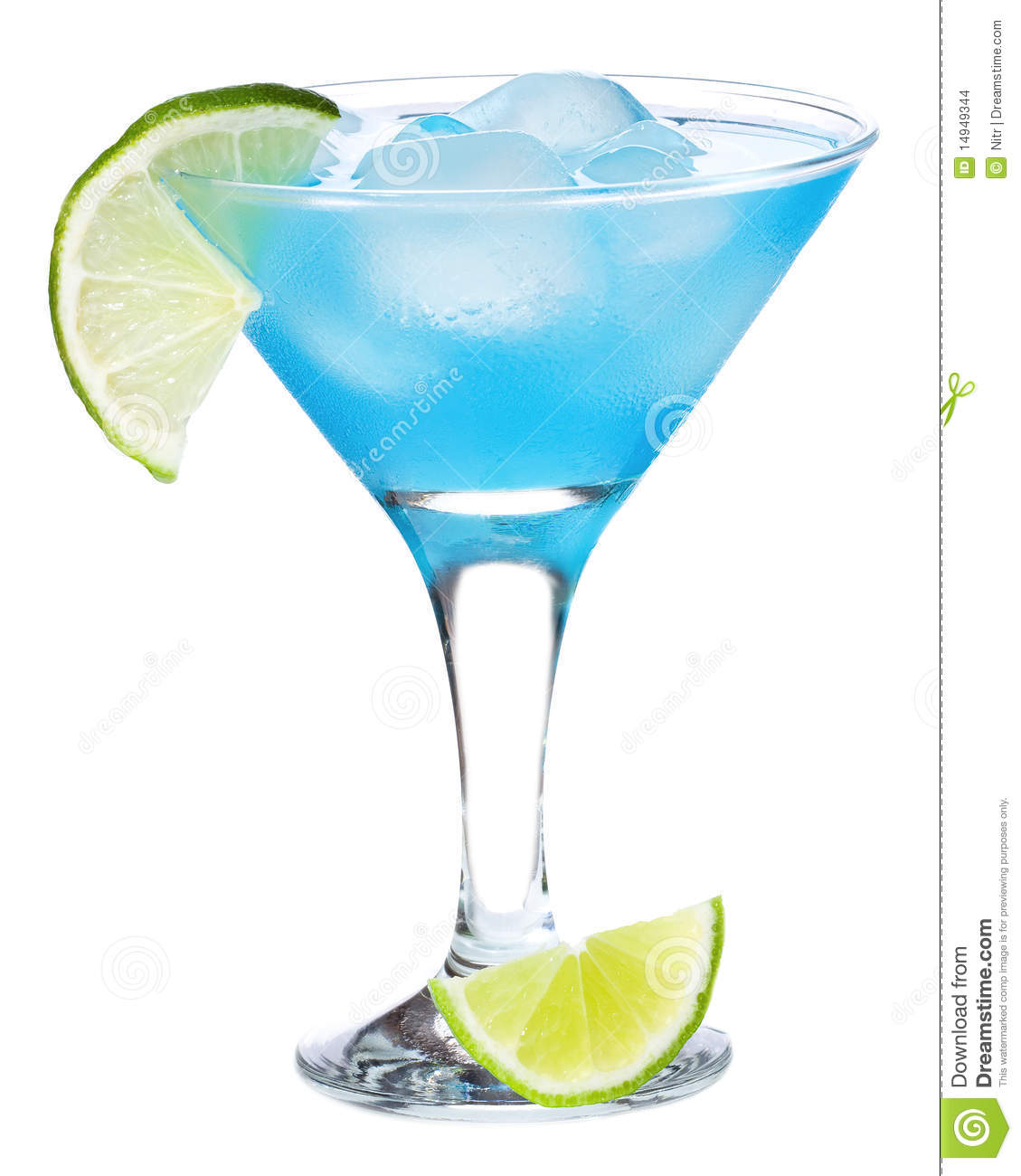 Blue Curacao Cocktail Stock Images
