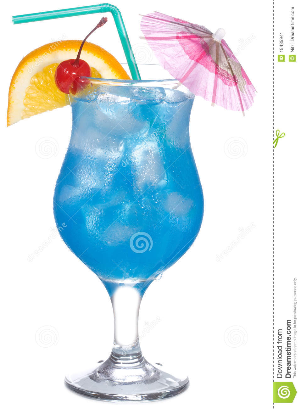 Blue Curacao Cocktail Stock Image Image Of Blue Alcohol
