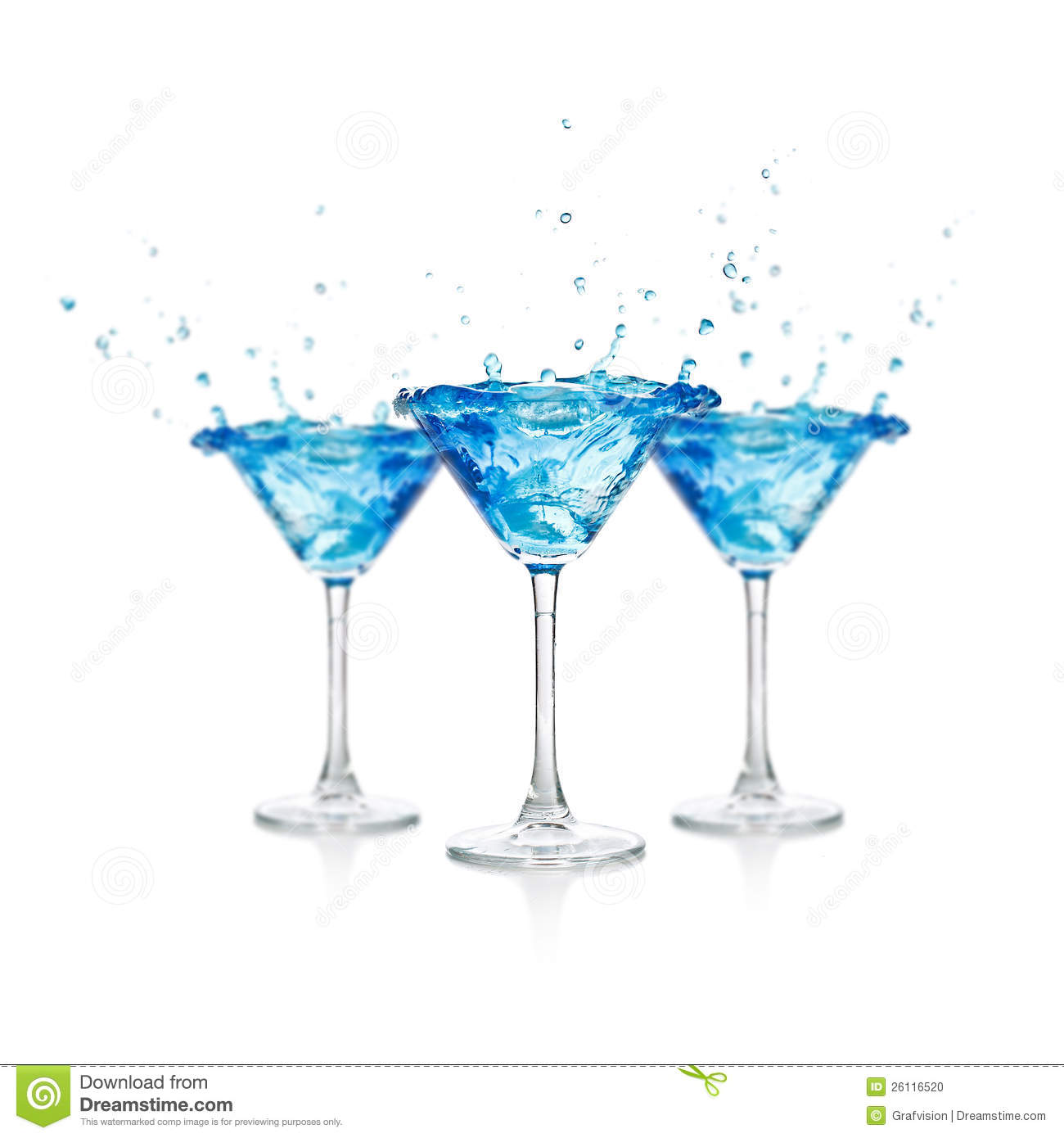 Blue Curacao Cocktail Stock Photo. Image Of Background