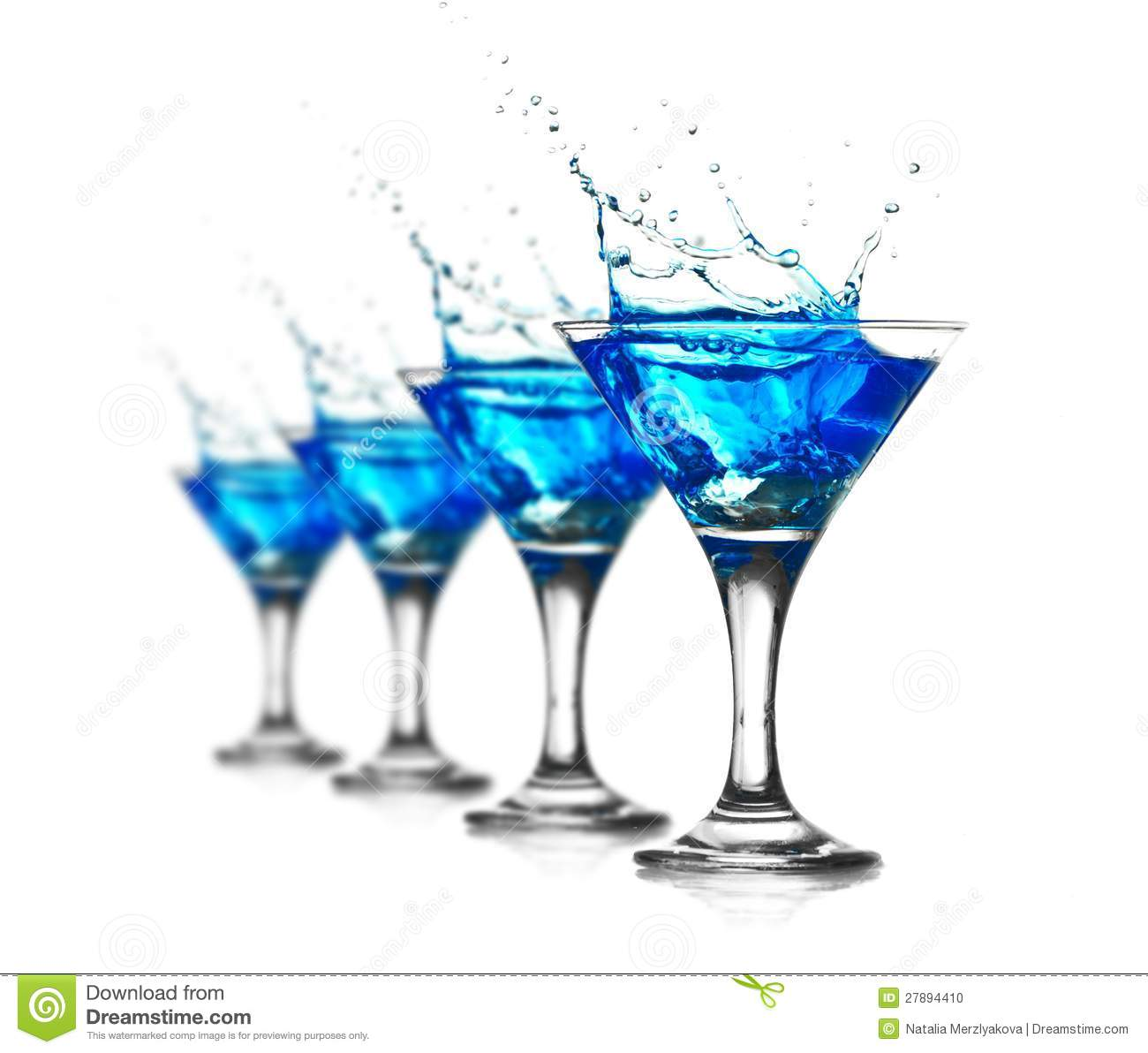 Blue curacao cocktail with splash stock photo image for Cocktail curacao