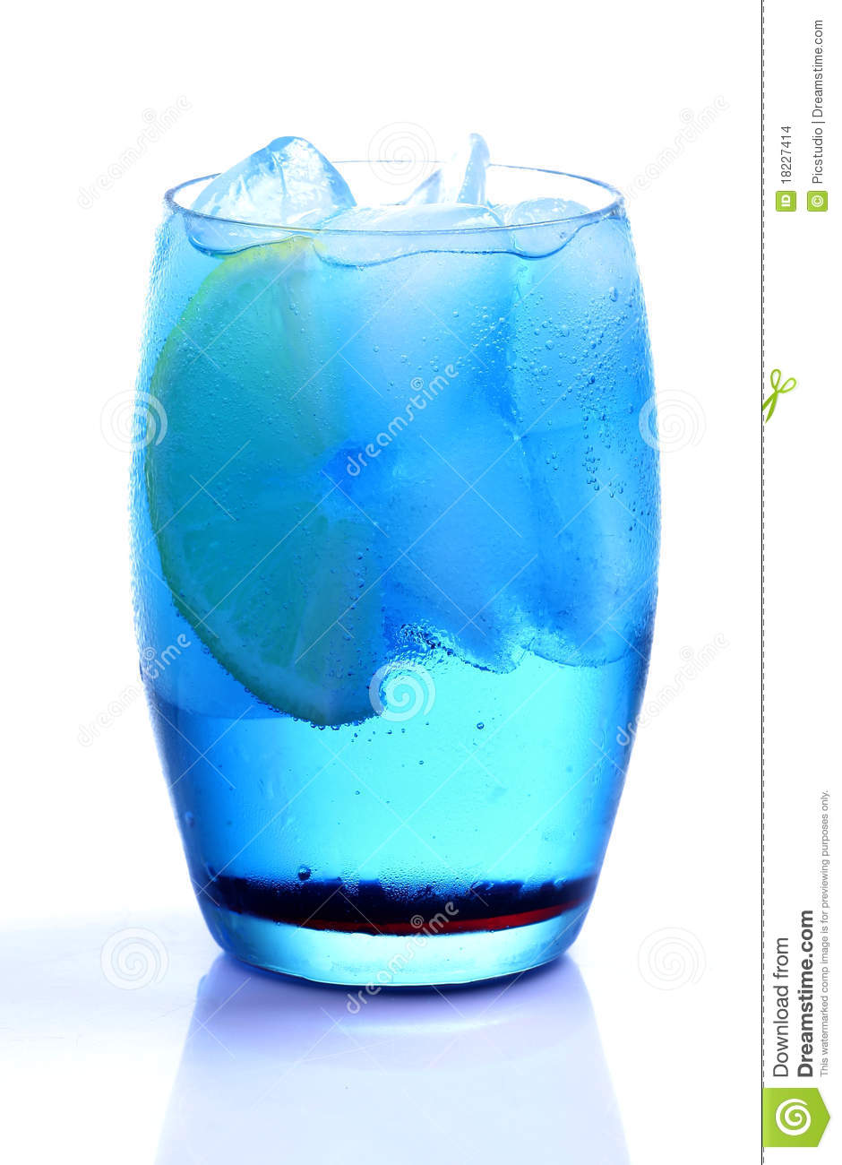 Blue Curacao Drink Stock Images - Image: 18227414