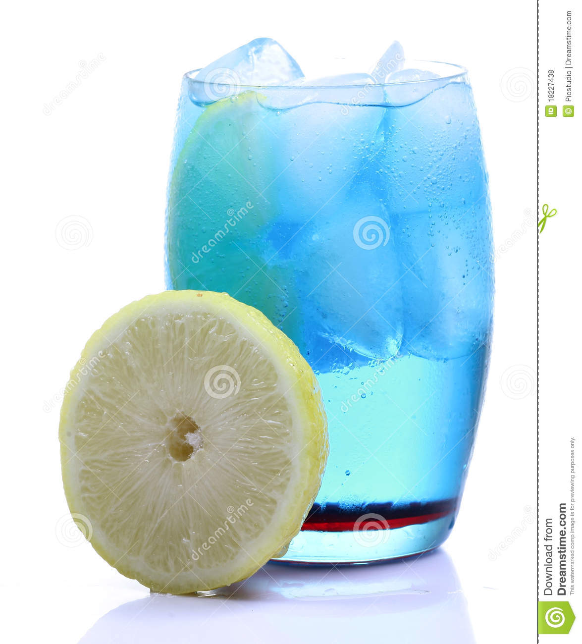 Blue Curacao Drink Stock Photo. Image Of Bubbles, Alcohol