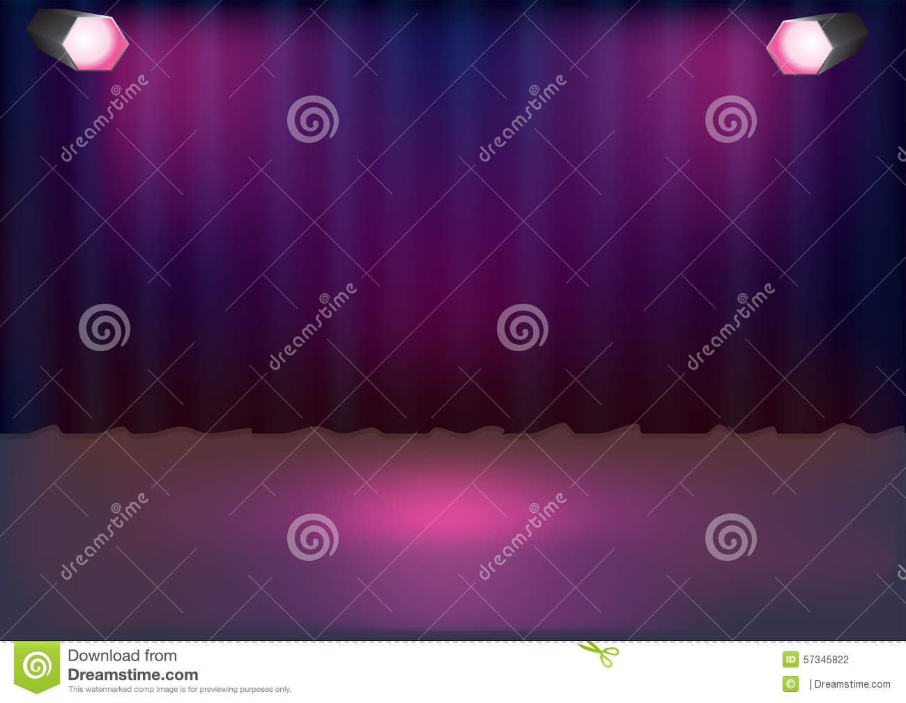 Bl blue stage curtains background - Purple Stage Curtains Background Blue Curtain Background And Stage With Sport Lights Stock Photography