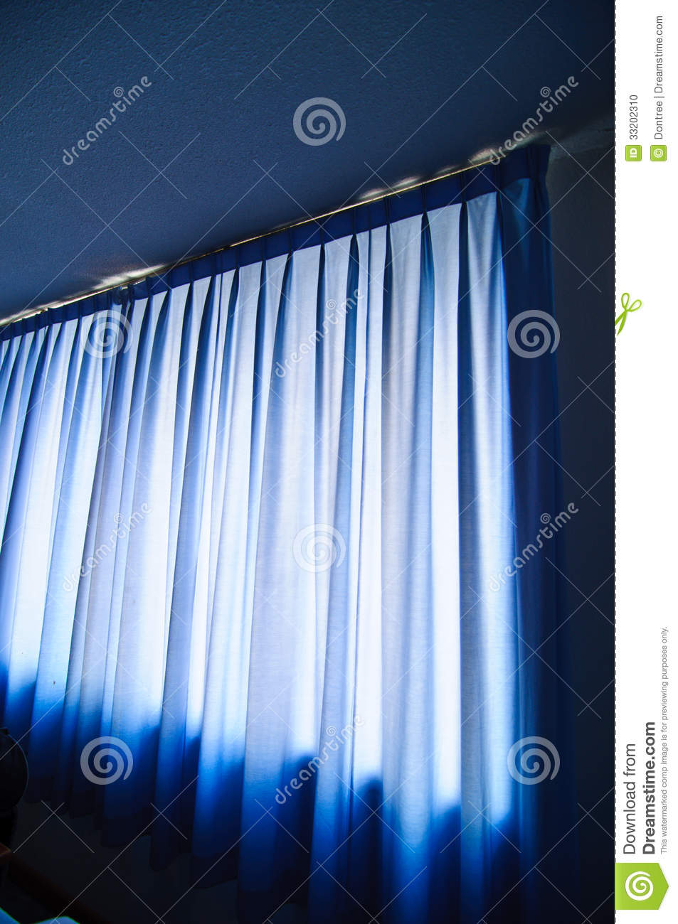 Blue stage curtain background - Blue Curtain Fabric Stock Photo Image 33202310