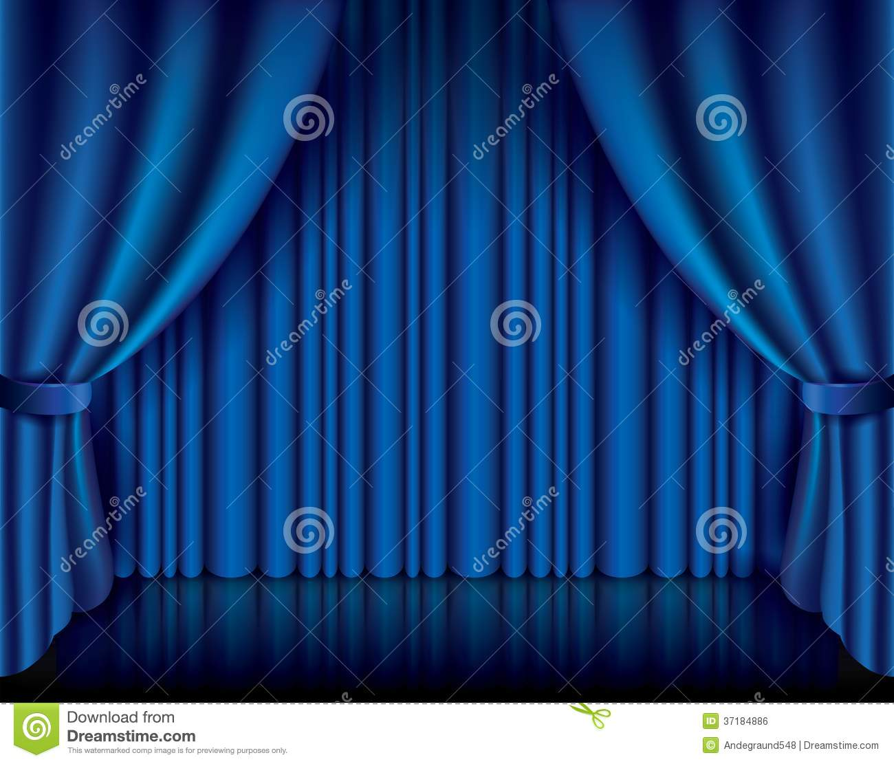 Blue stage curtains blue stage curtain vector free vector in - Background Blue Curtain Illustration Performance Photo Realistic Vector Theatre