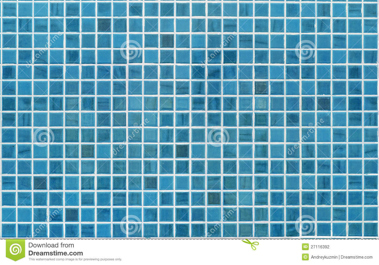 Blue Or Cyan Tile Wall Stock Photo Image Of Detail