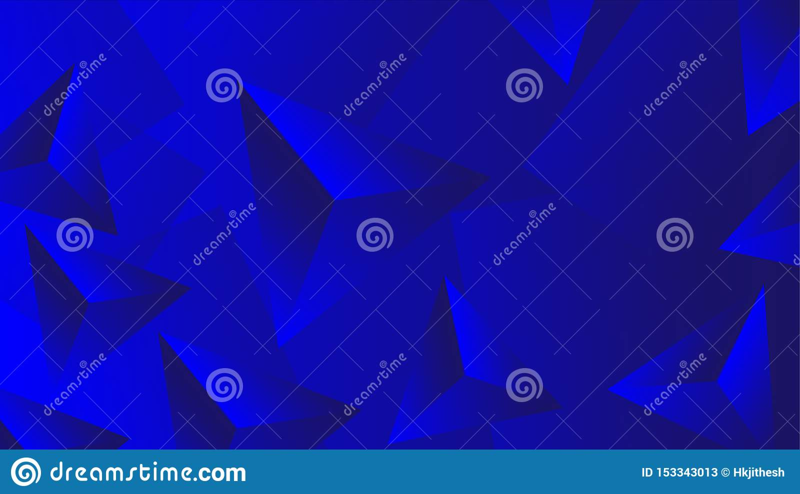 Blue 3D abstract wallpaper for design