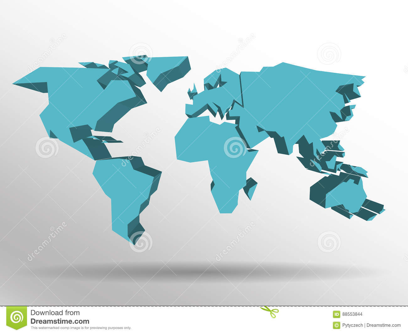 Blue 3d map of world with dropped shadow on background worldwide blue 3d map of world with dropped shadow on background worldwide theme wallpaper rendered three dimensional eps10 gumiabroncs Gallery