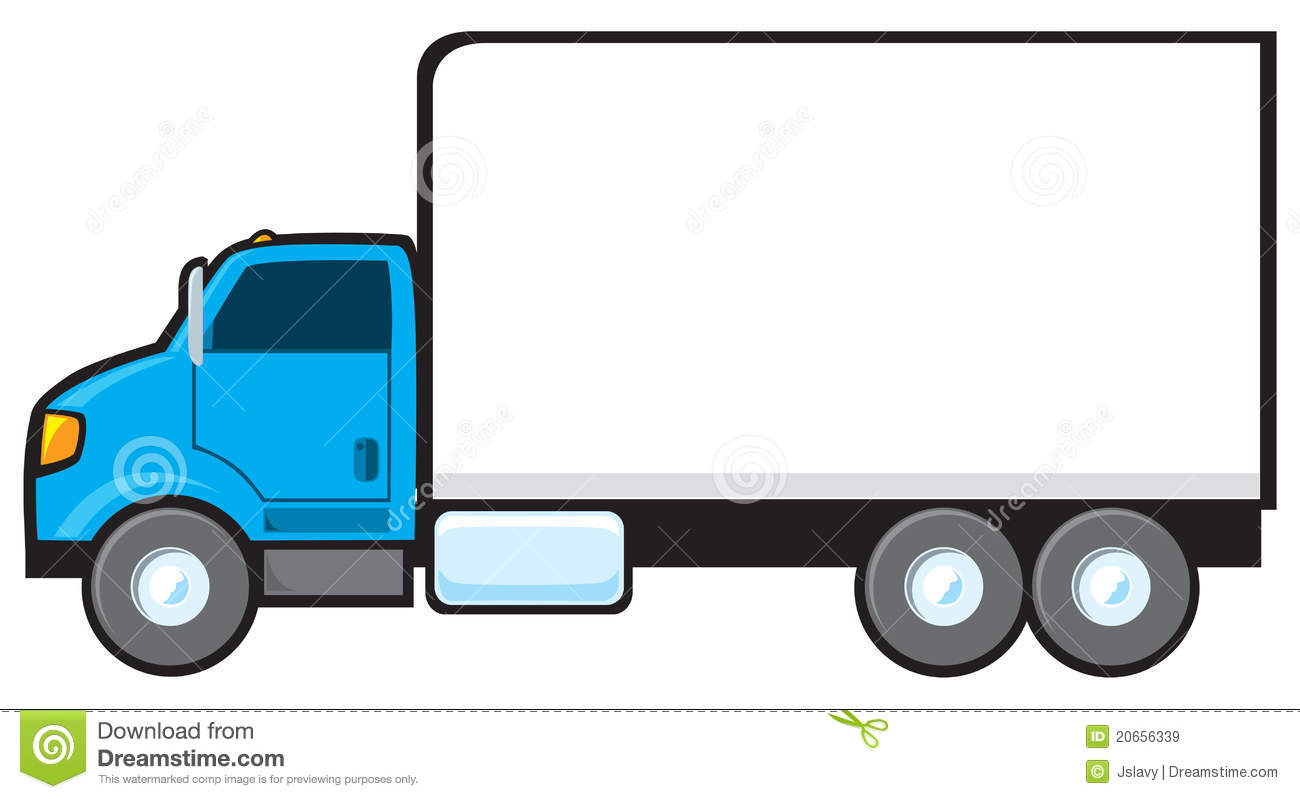 Blue Delivery Truck Royalty Free Stock Images - Image: 20656339 | 1300 x 799 jpeg 67kB
