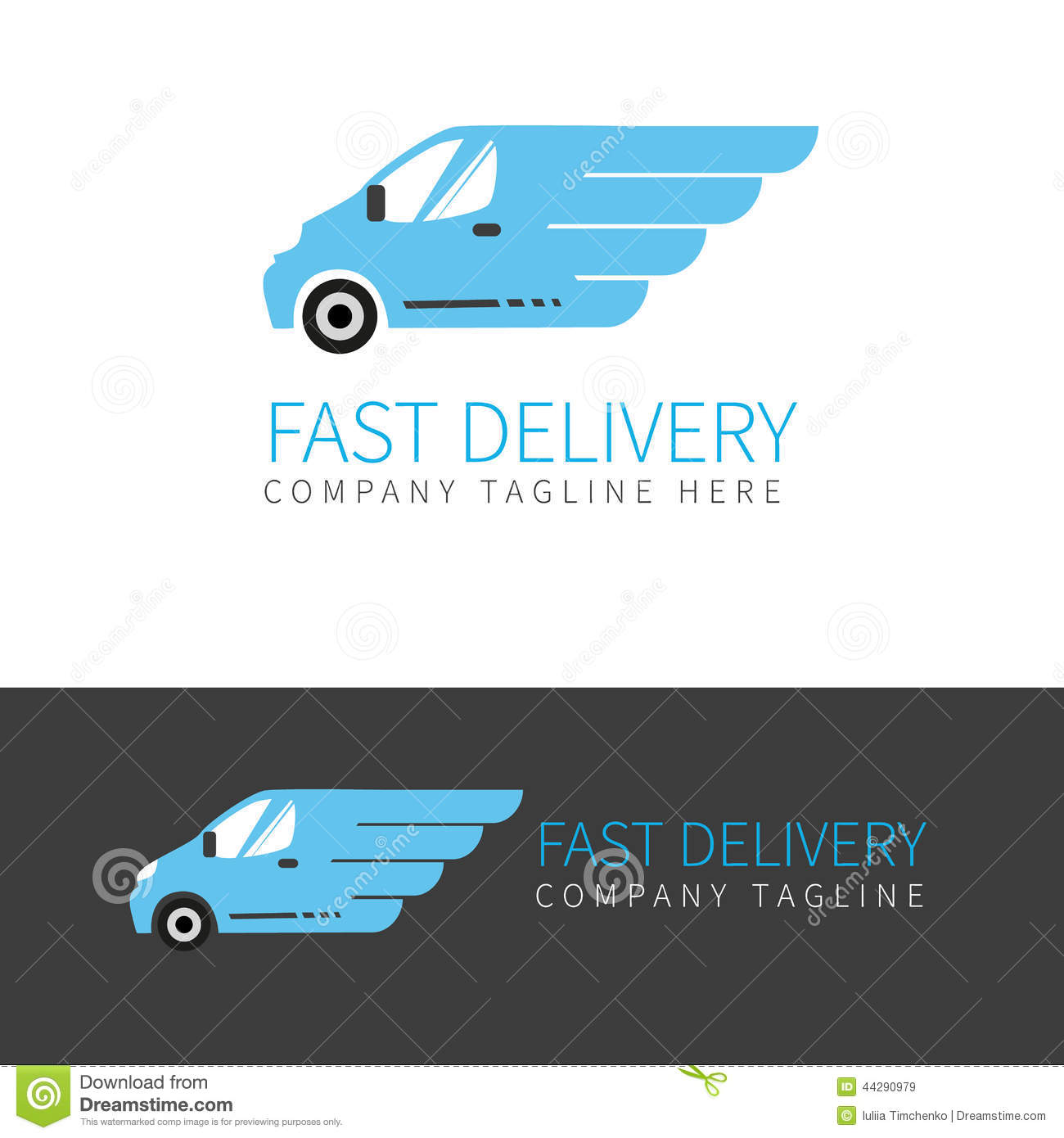 Moving Truck Companies >> Blue Delivery Van Logo Stock Vector - Image: 44290979