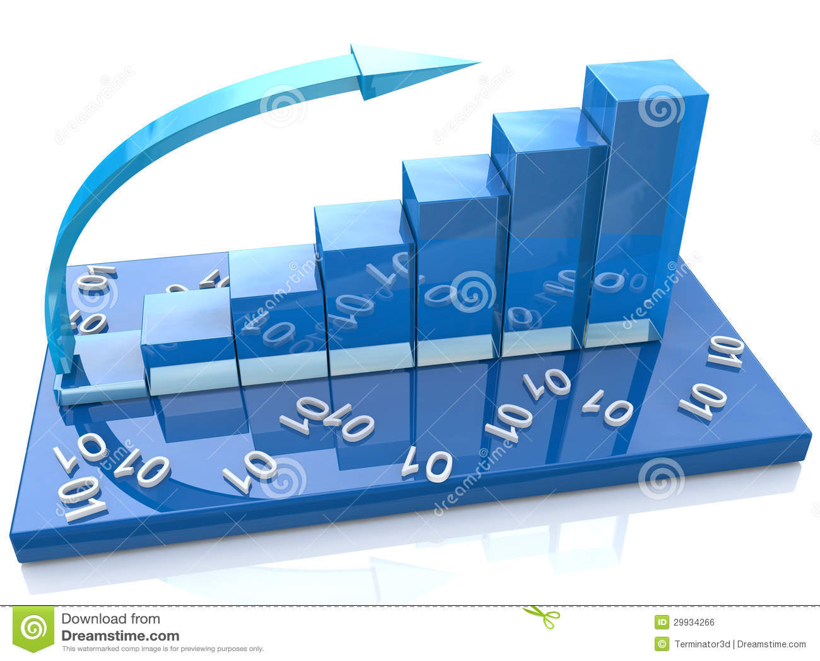 Blue Diagram Numbers Stock Illustration  Illustration Of