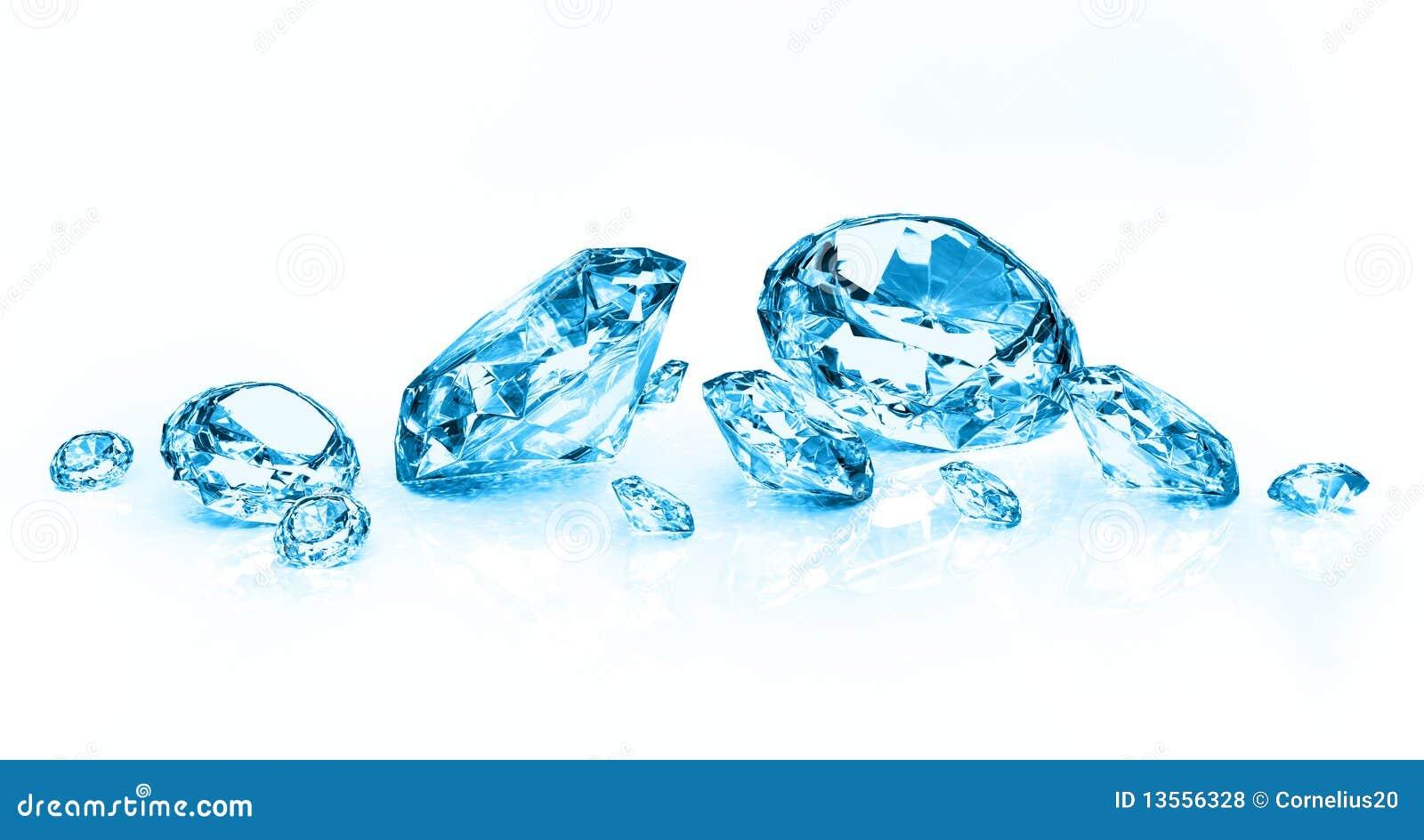 Blue Diamonds Royalty Free Stock Photos - Image: 13556328