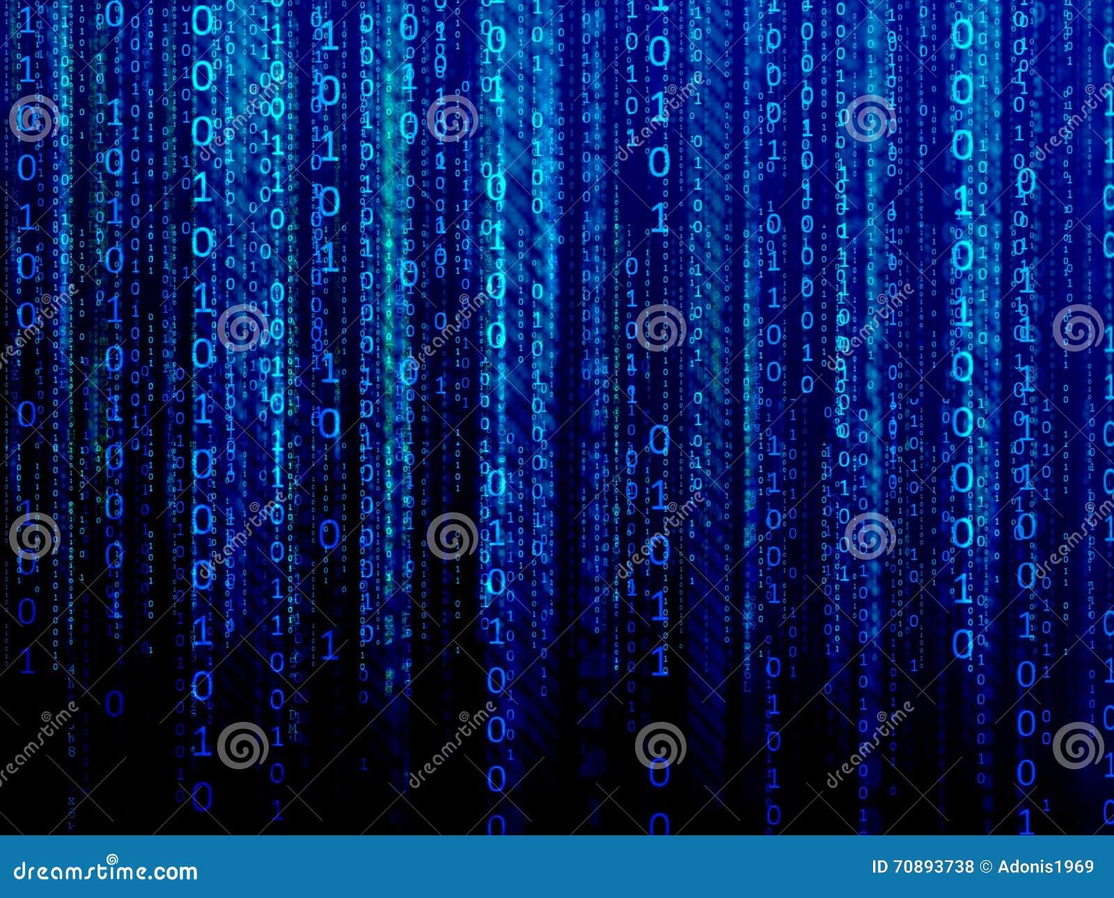 Blue Digital Data Stream Stock Illustration - Image: 70893738