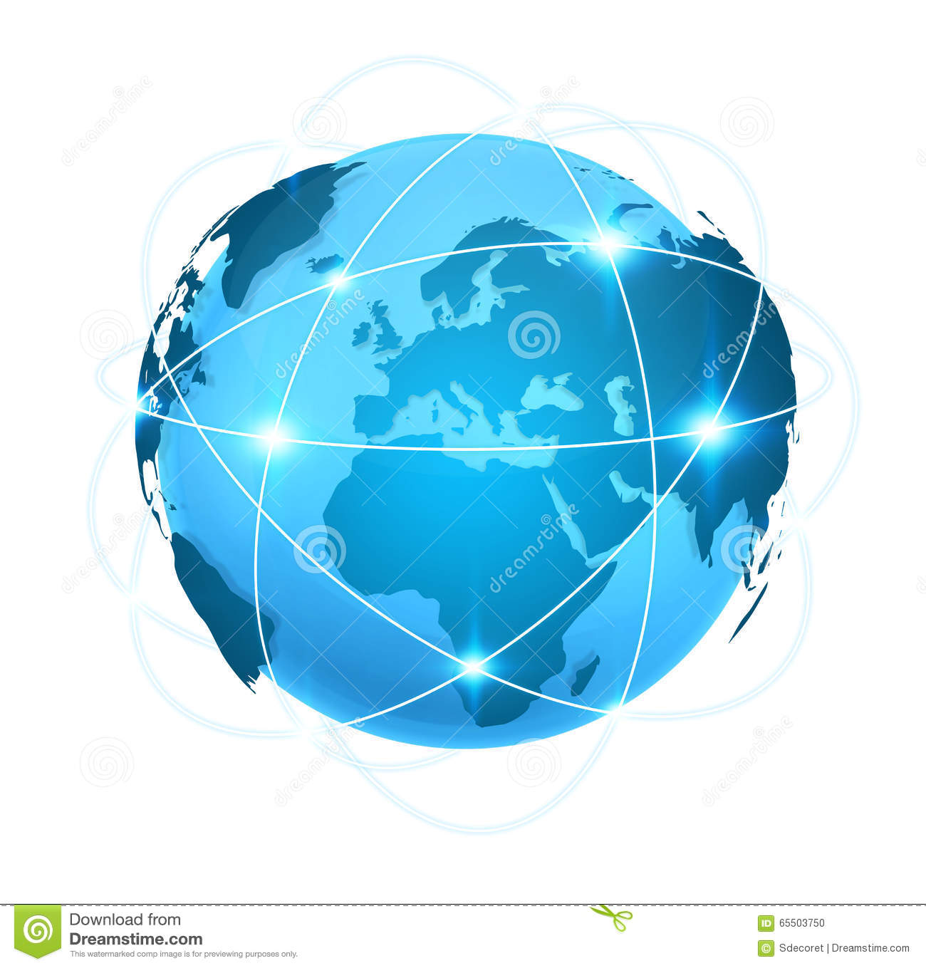 Blue digital world map with connection stock illustration image blue digital world map with connection royalty free illustration download gumiabroncs Choice Image