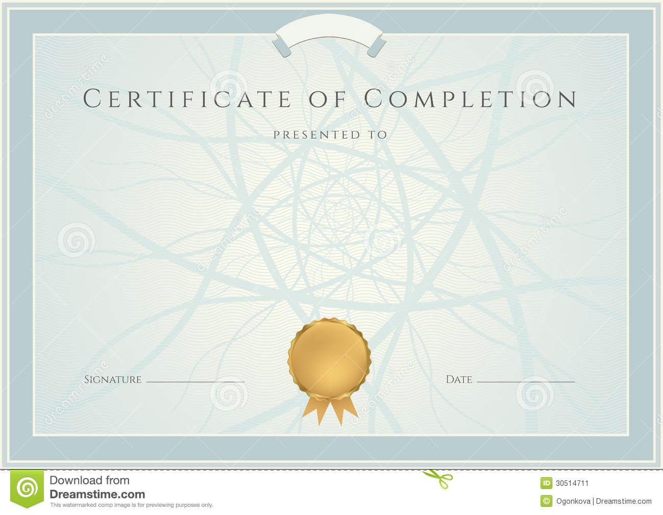Blue Diploma / Certificate Background And Border Stock ...