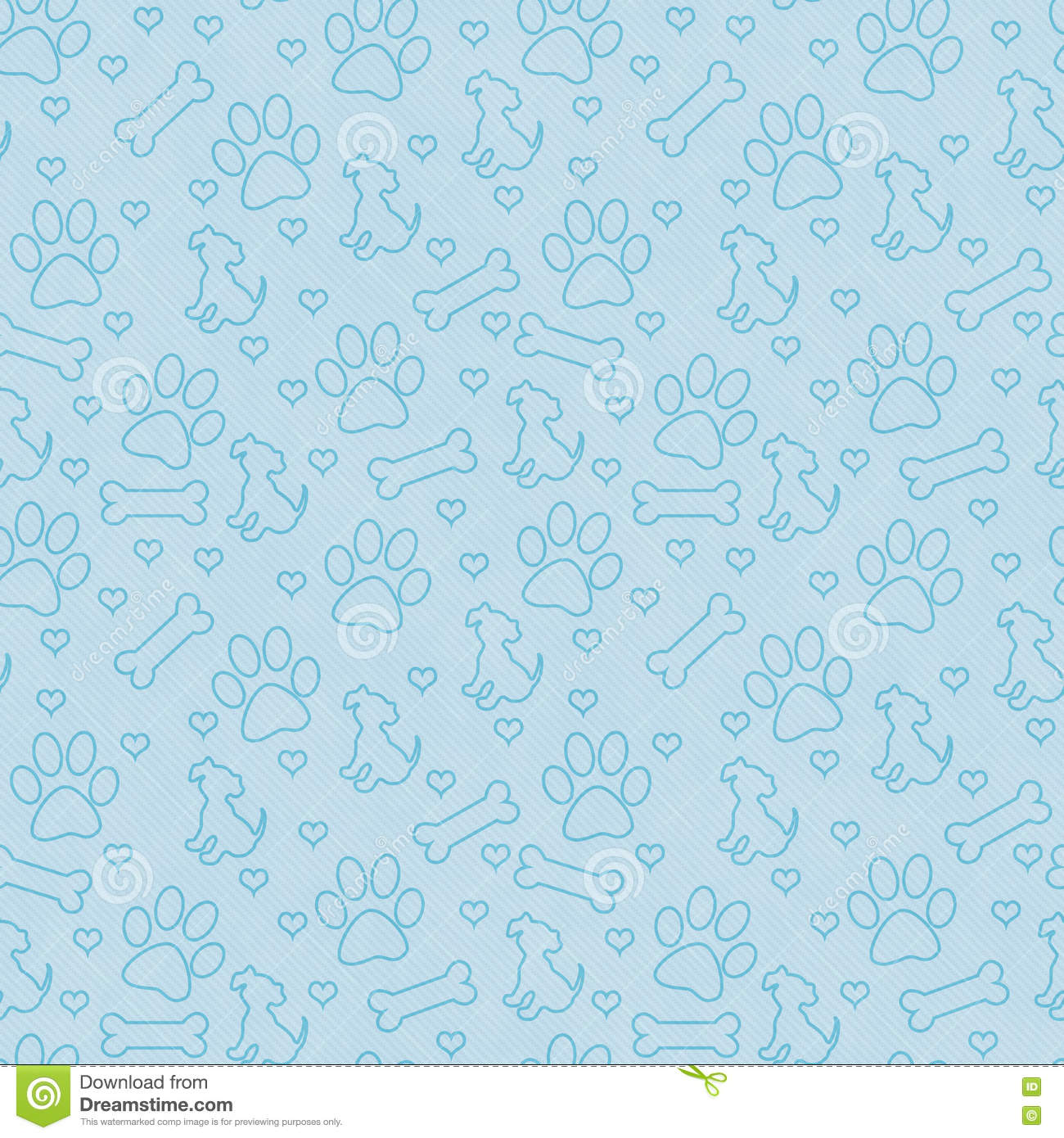 Blue Doggy Tile Pattern Repeat Background