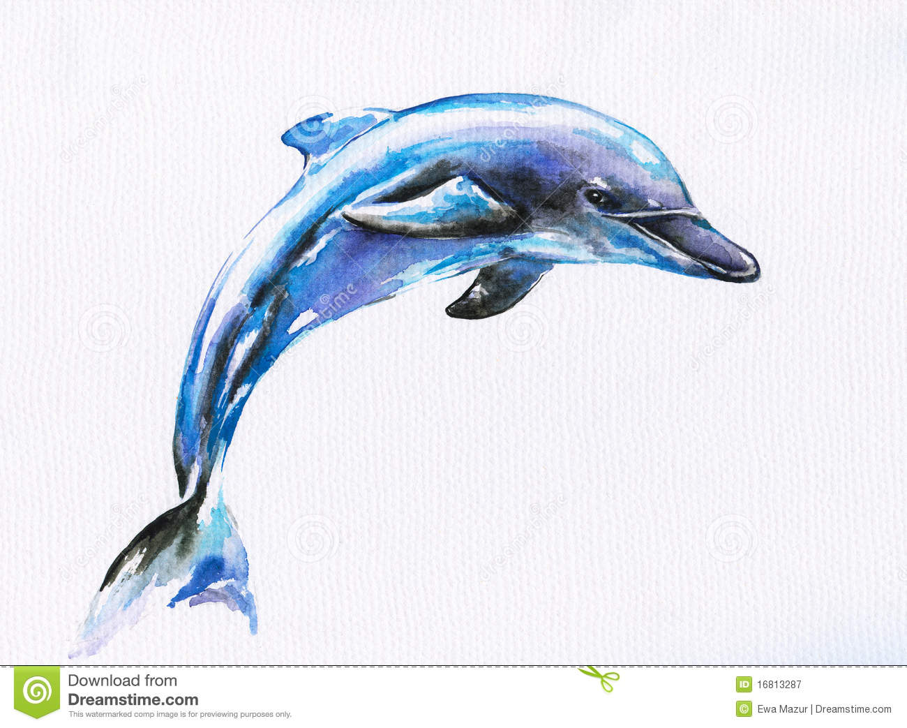 Blue Dolphin Royalty Free Stock Photography - Image: 16813287