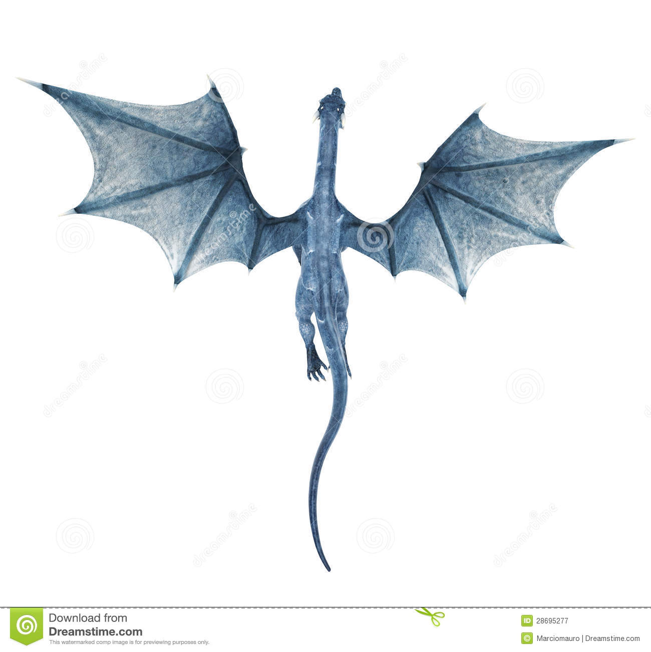 blue dragon flying royalty free stock photography image