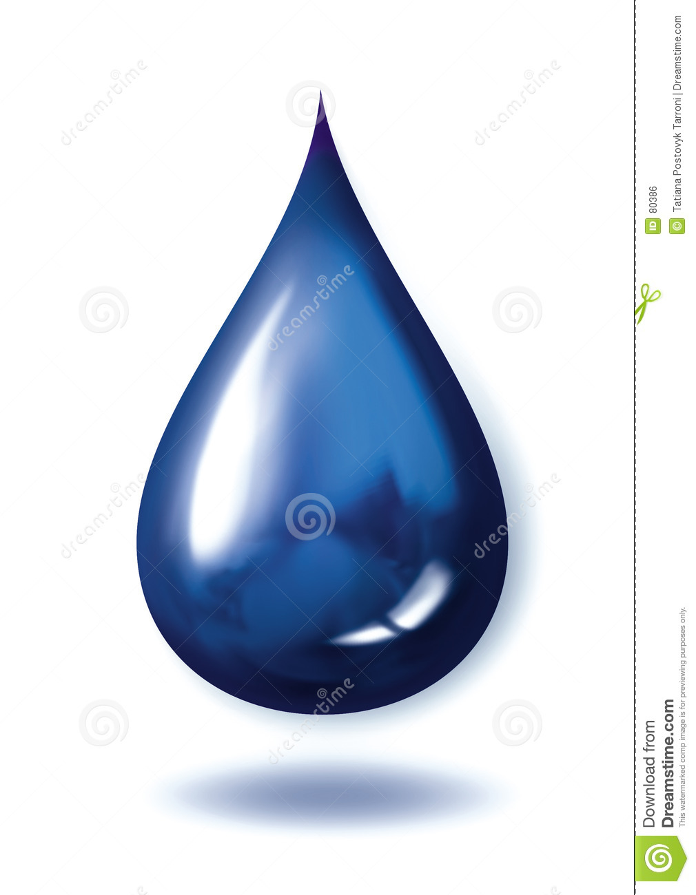 Blue Droplet Royalty Free Stock Image - Image: 80386