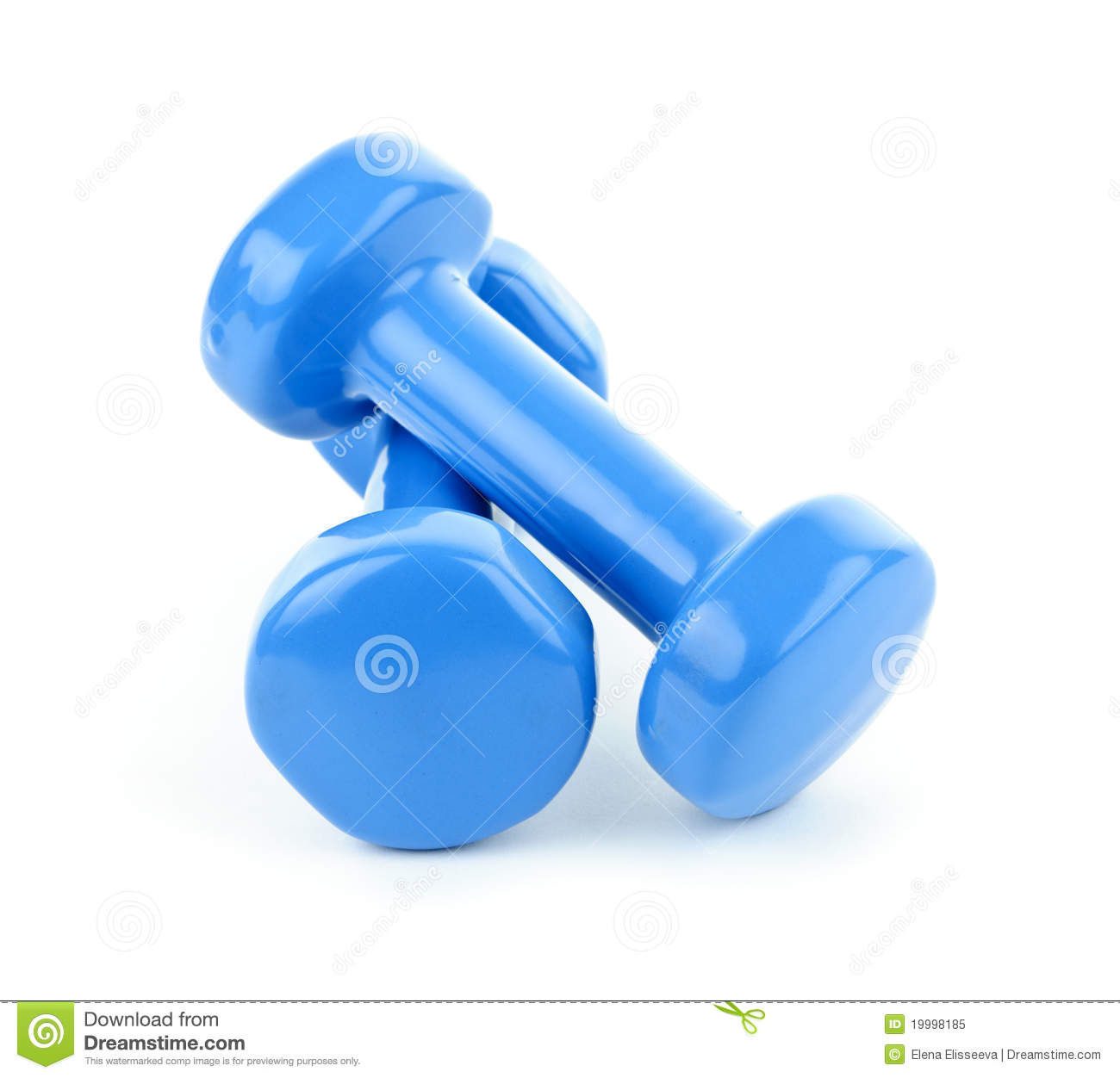 Blue Dumbbell Weights Royalty Free Stock Photo - Image ...