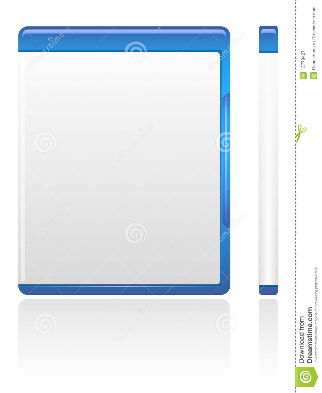 Blue Dvd Case Eps Stock Vector Illustration Of Media 15778427