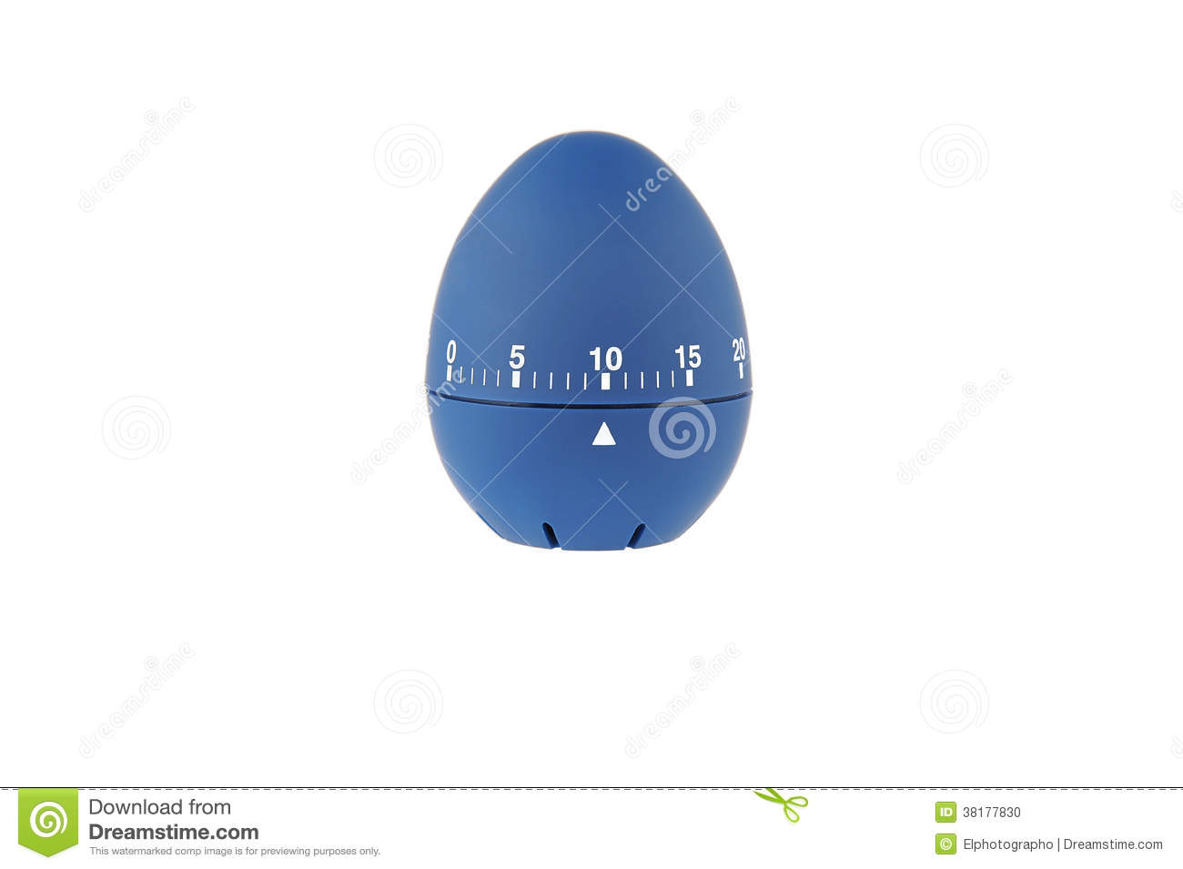 blue egg timer for boiled eggs 10 minutes countdown stock photo