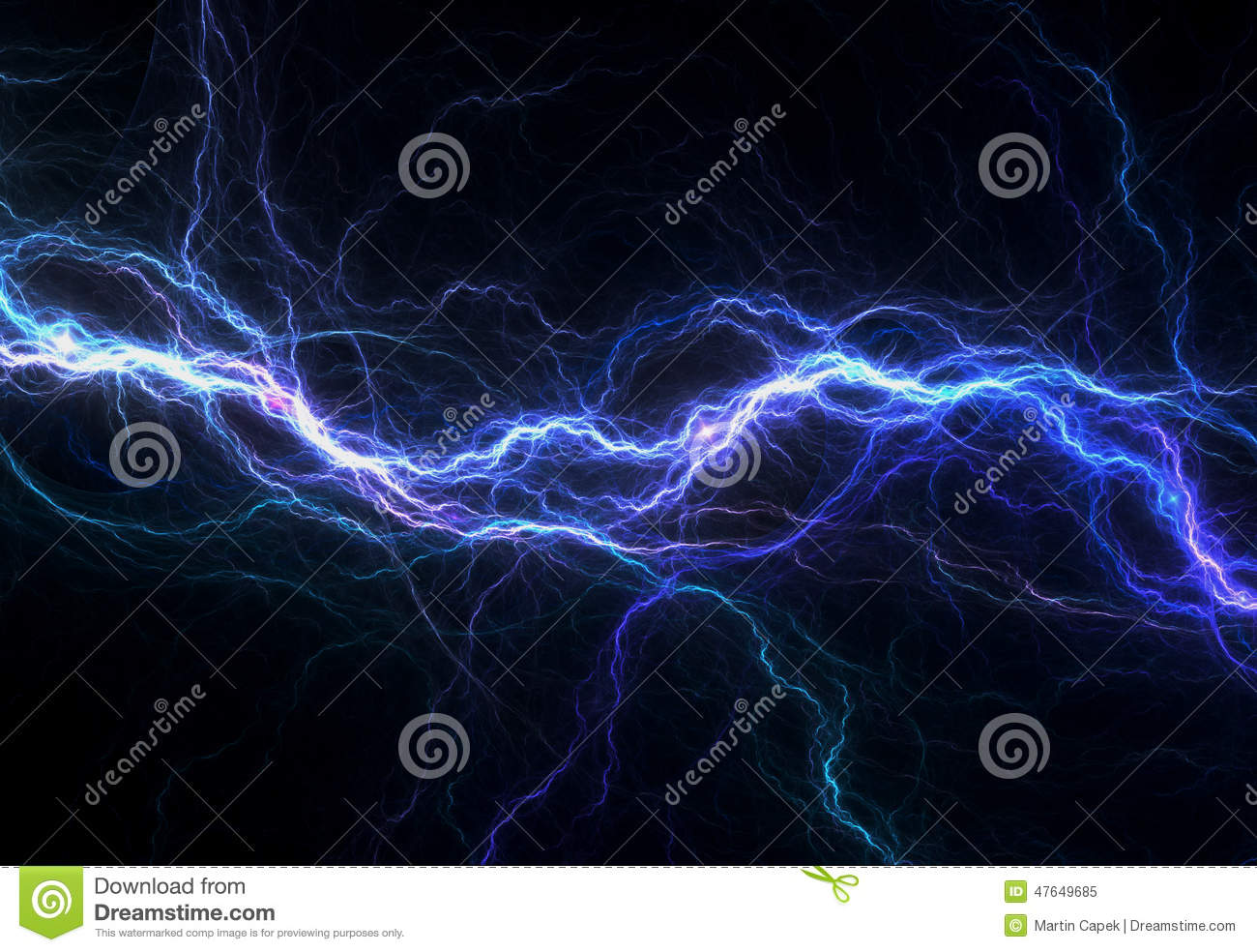 abstract blue electricity - photo #11