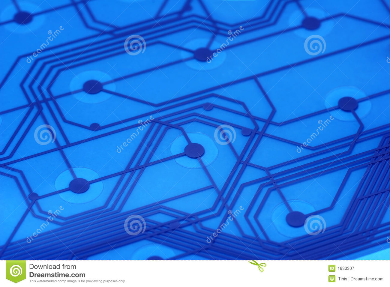 Blue Electronic Circuit Board 2 Stock Image Of Electriccircuit2jpg