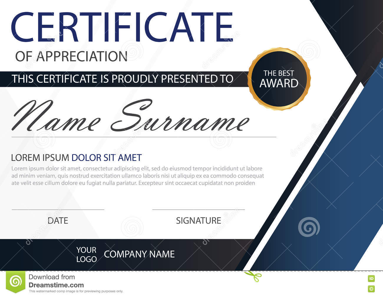 Blue elegance horizontal certificate with vector illustration white blue elegance horizontal certificate with vector illustration white frame certificate template with clean and modern pattern gold decorative yelopaper Image collections