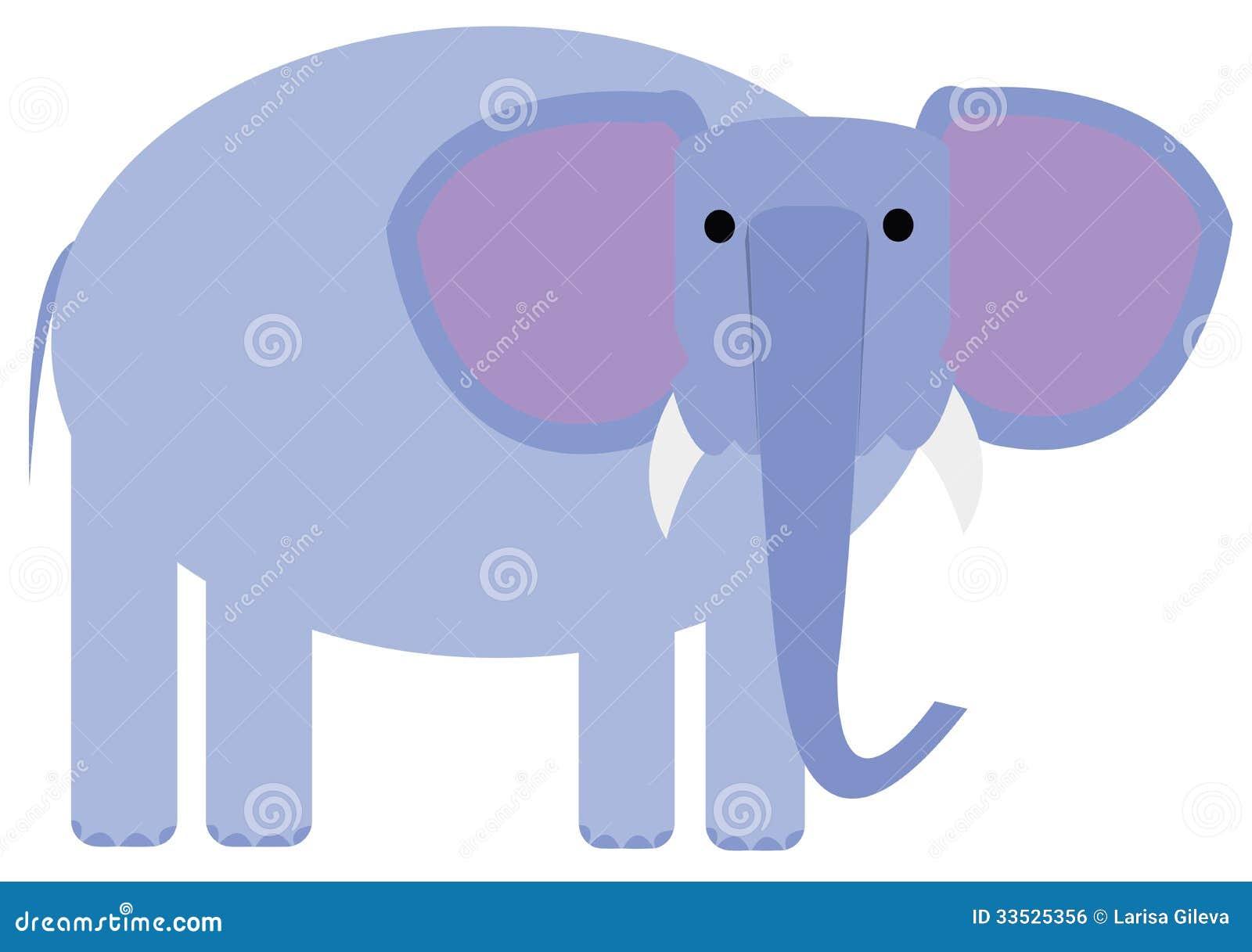 Cartoon Baby Blue Elephant