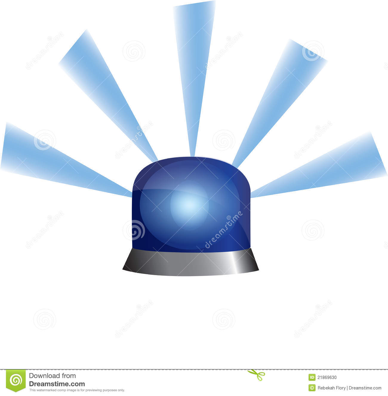 Blue Emergency Police Flashing Light Stock Illustration