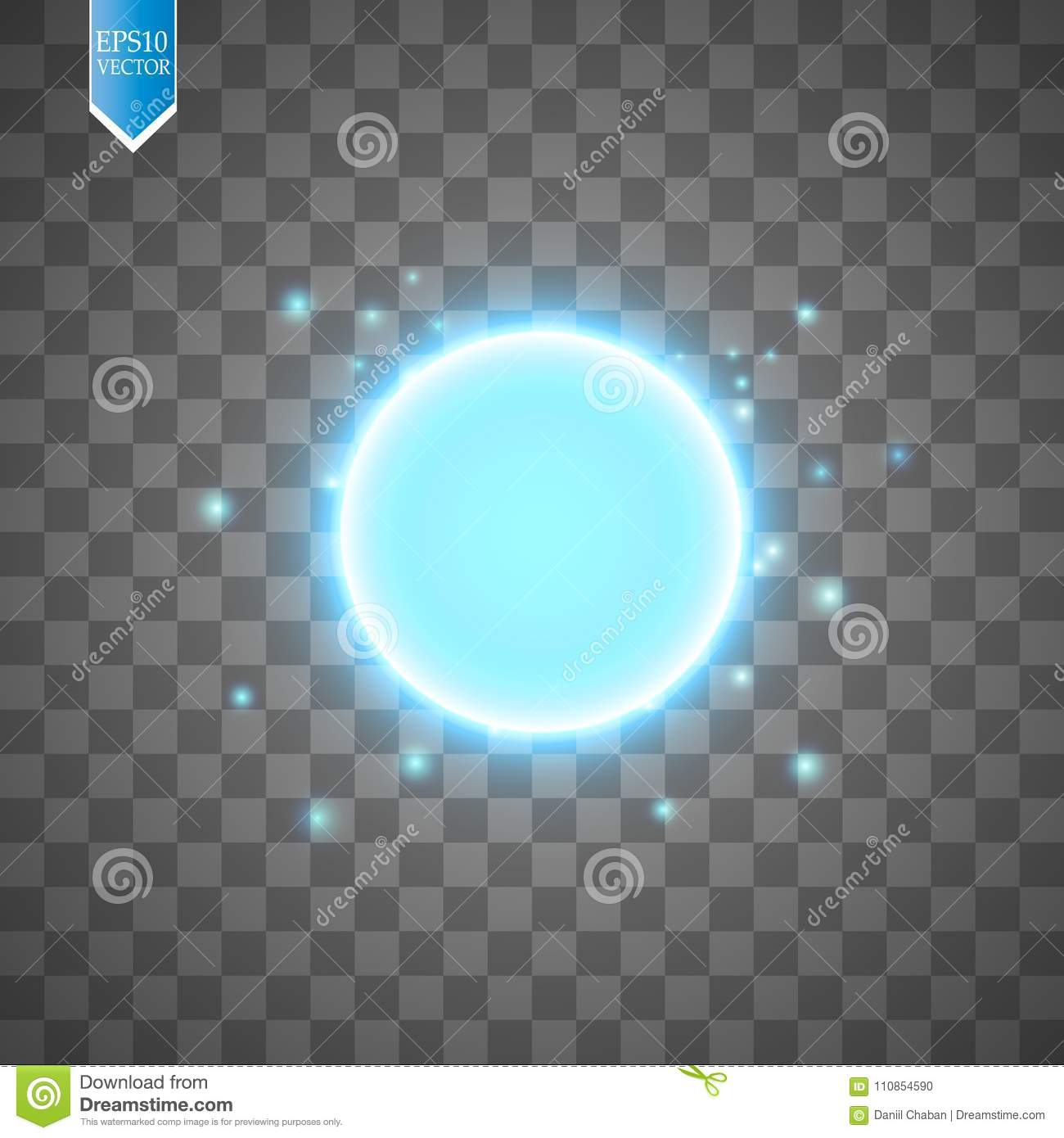 Blue Energy Ring Abstract conceptual Vector Design With Free Area In