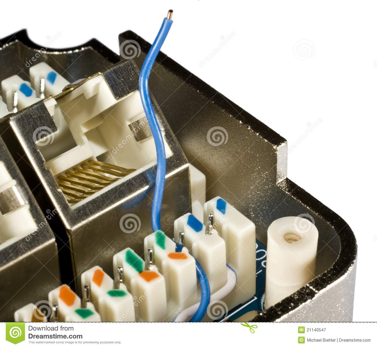 Blue Ethernet Wire Stock Image Of Mail Computer 21140547 Wiring A Plug With Only And Brown Wires