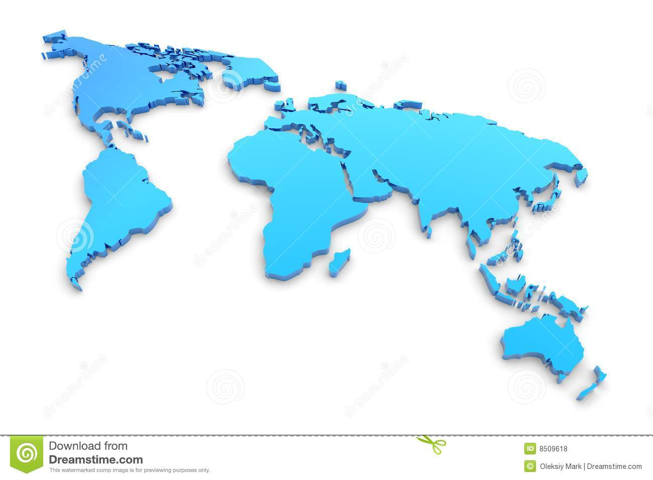 Blue extruded world map stock illustration illustration of blue extruded world map royalty free stock photo gumiabroncs Images