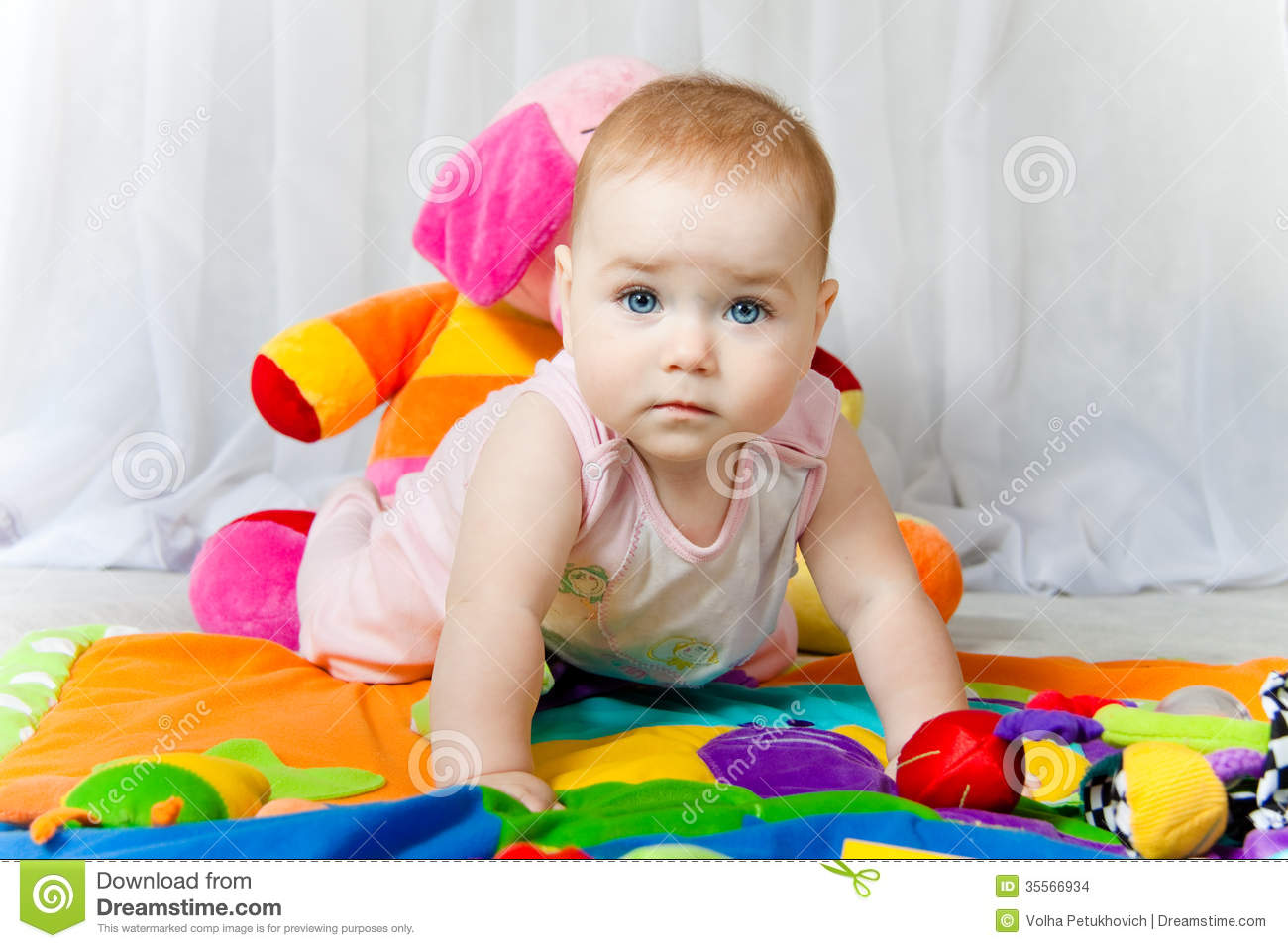 Cute Baby Toys : Blue eyes cute baby stock images image