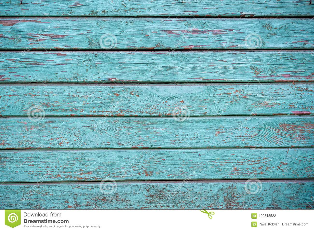 Blue faded painted wooden texture, background and wallpaper. Horizontal composition